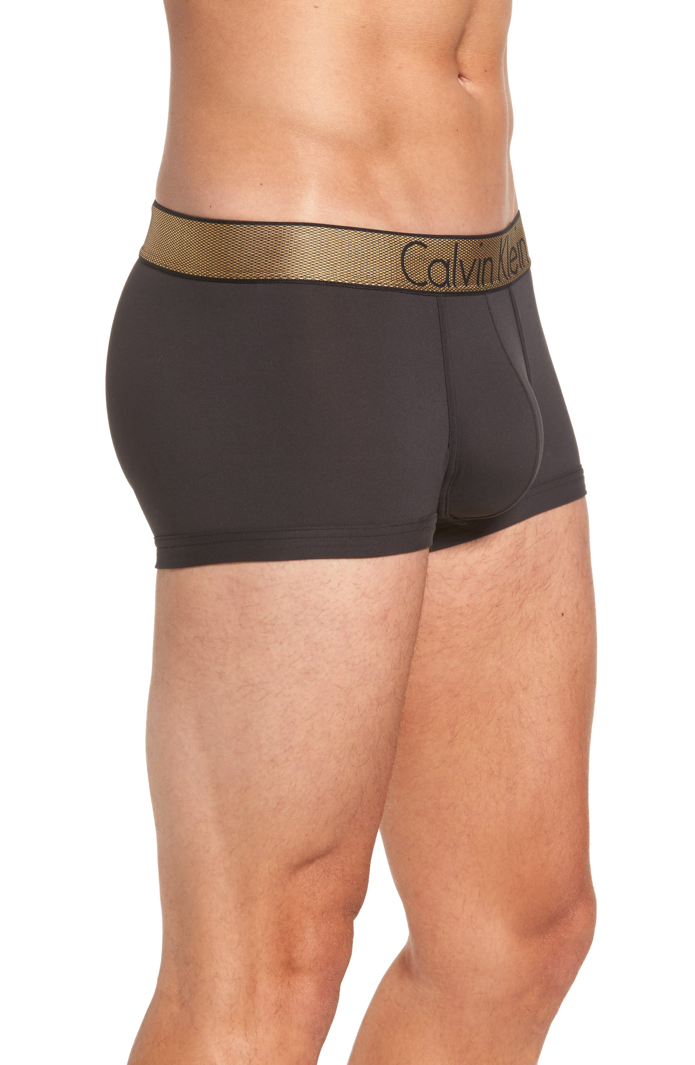 Holiday Trunks,                             Alternate thumbnail 3, color,                             Black W/ Gold Wb