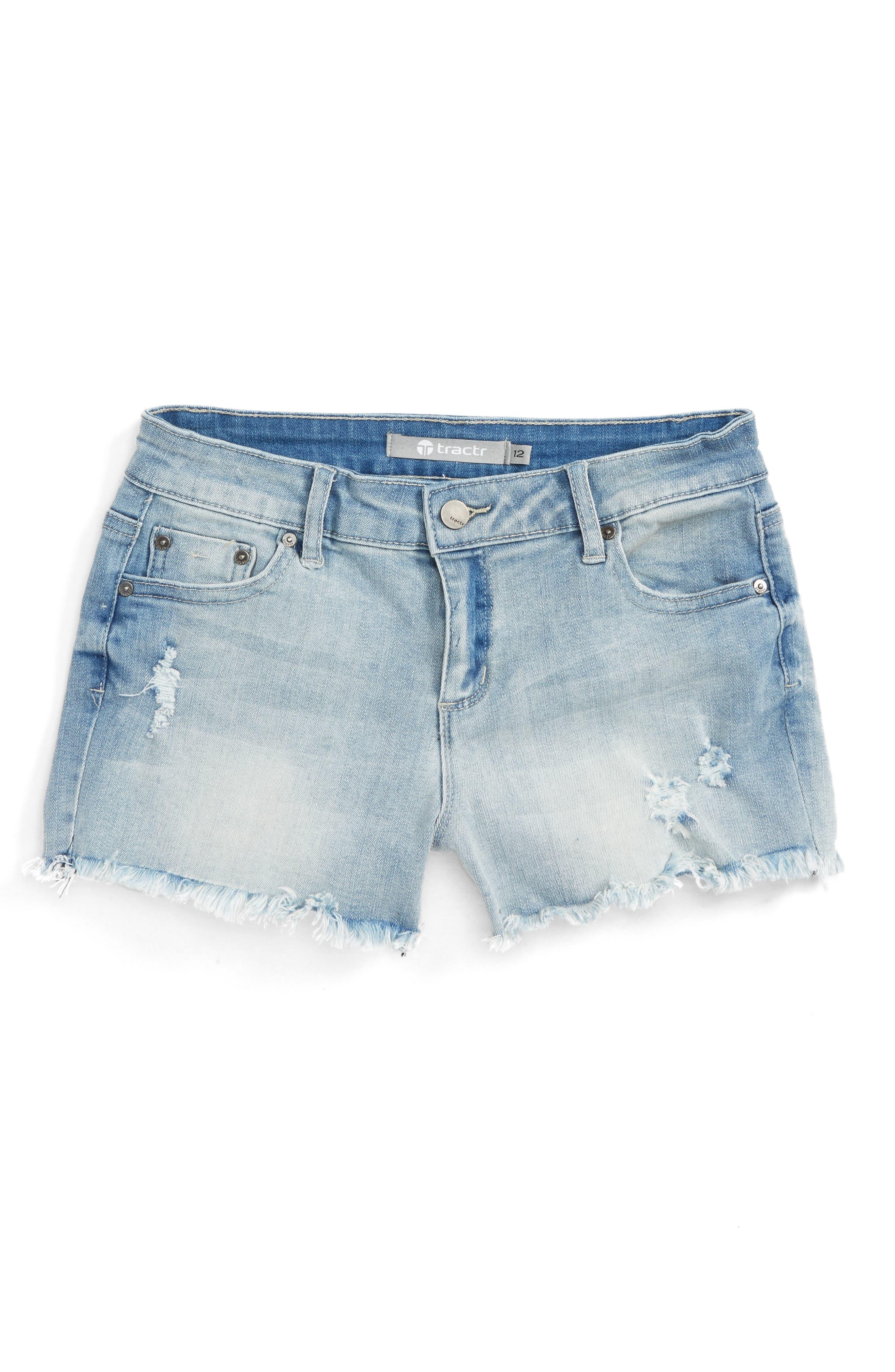 Tractr Distressed Cutoff Denim Shorts (Big Girls)