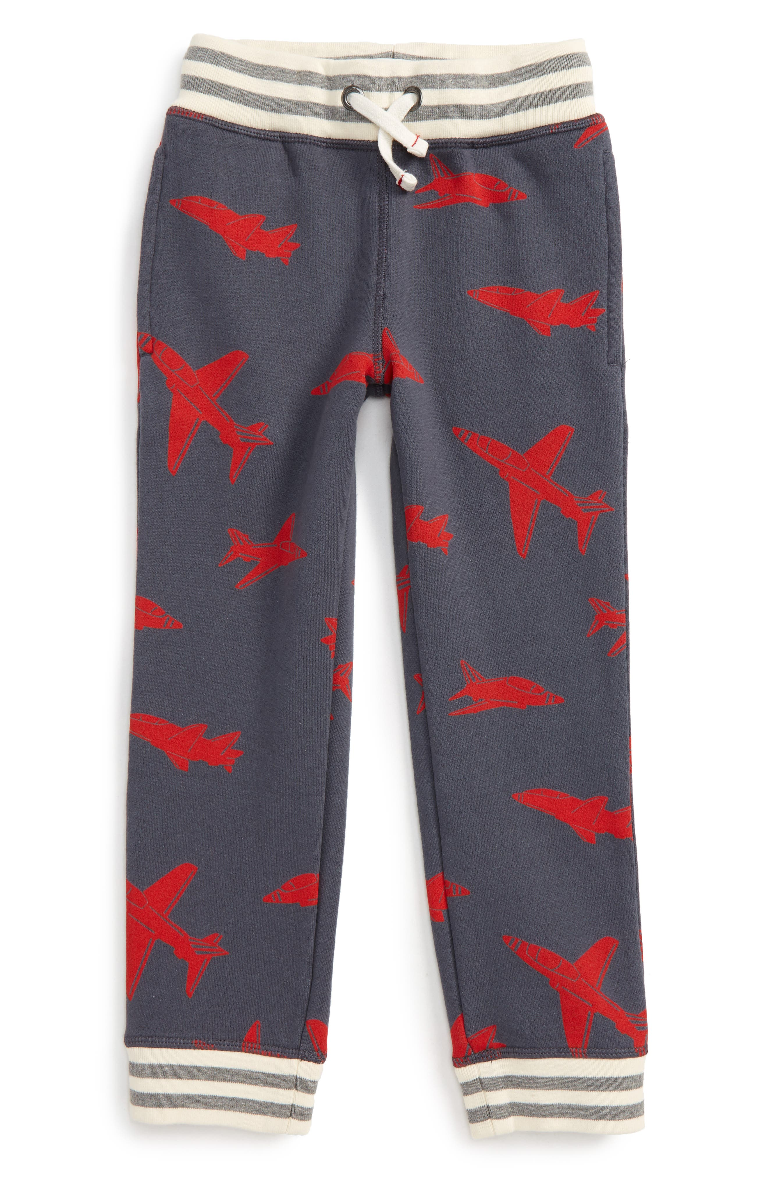 Alternate Image 1 Selected - Mini Boden Print Jogger Pants (Toddler Boys, Little Boys & Big Boys)