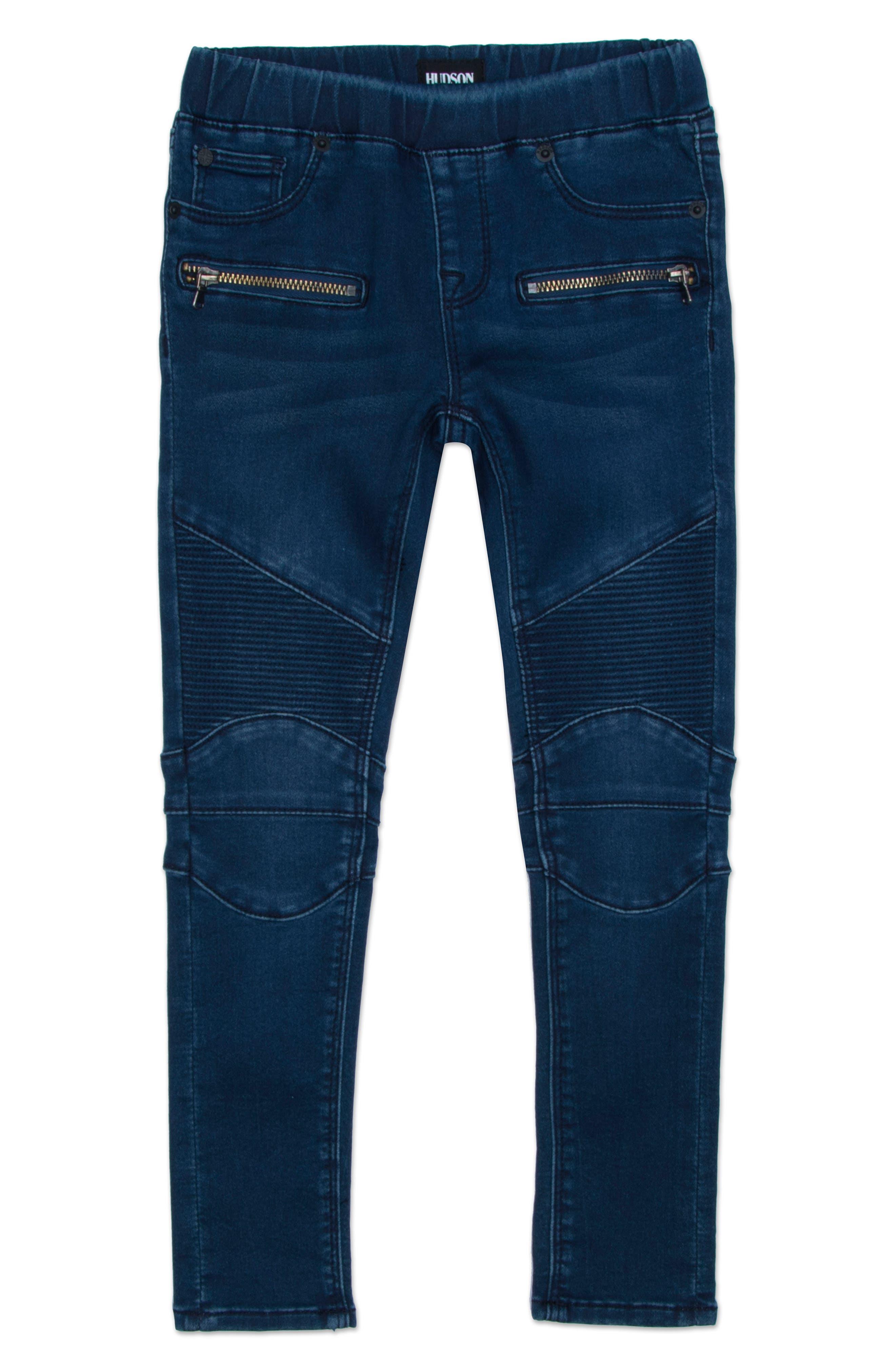 Moto Skinny Jeans,                             Main thumbnail 1, color,                             Nile