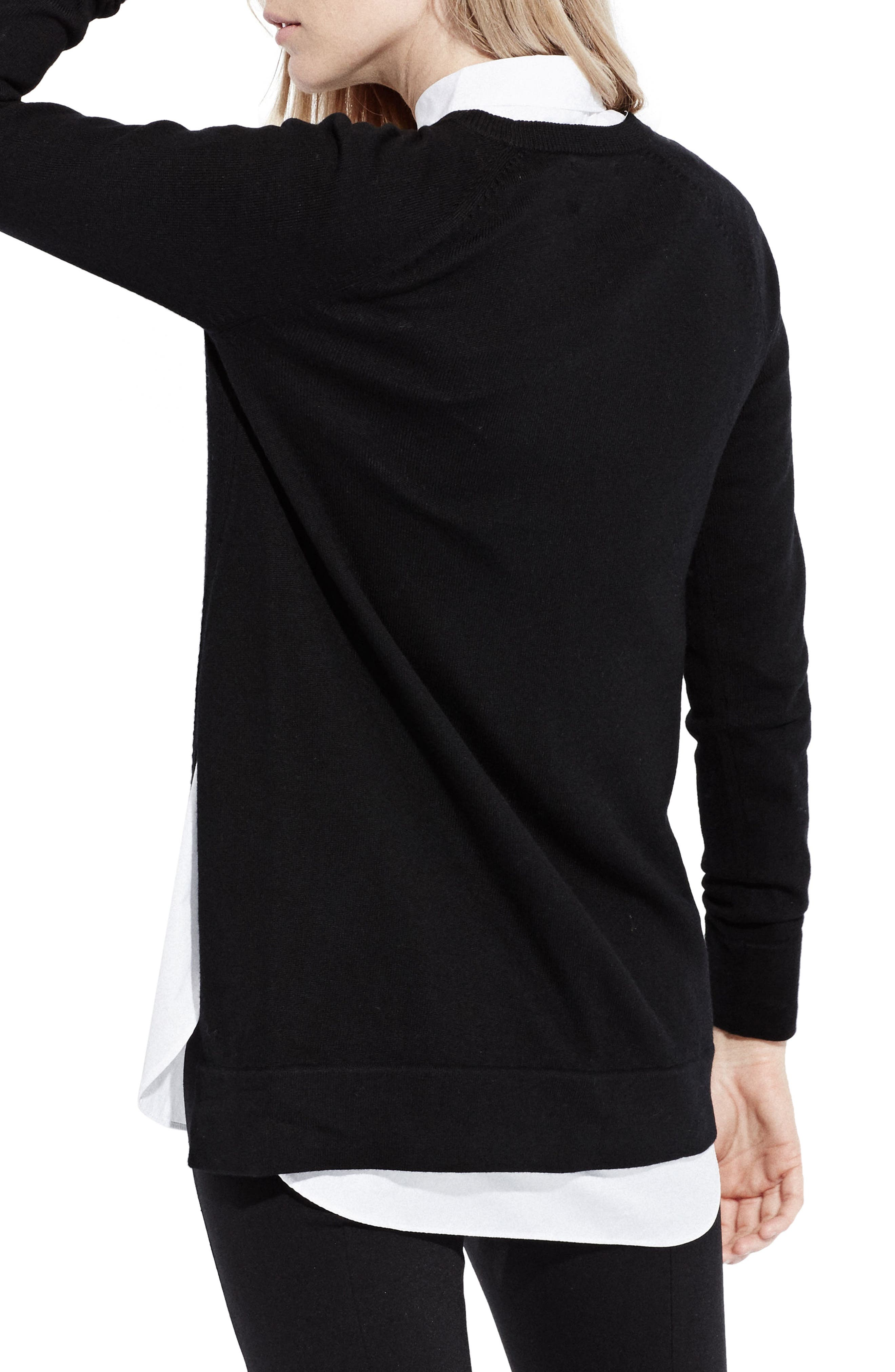 The Twisted Seam Tunic,                             Alternate thumbnail 2, color,                             Black