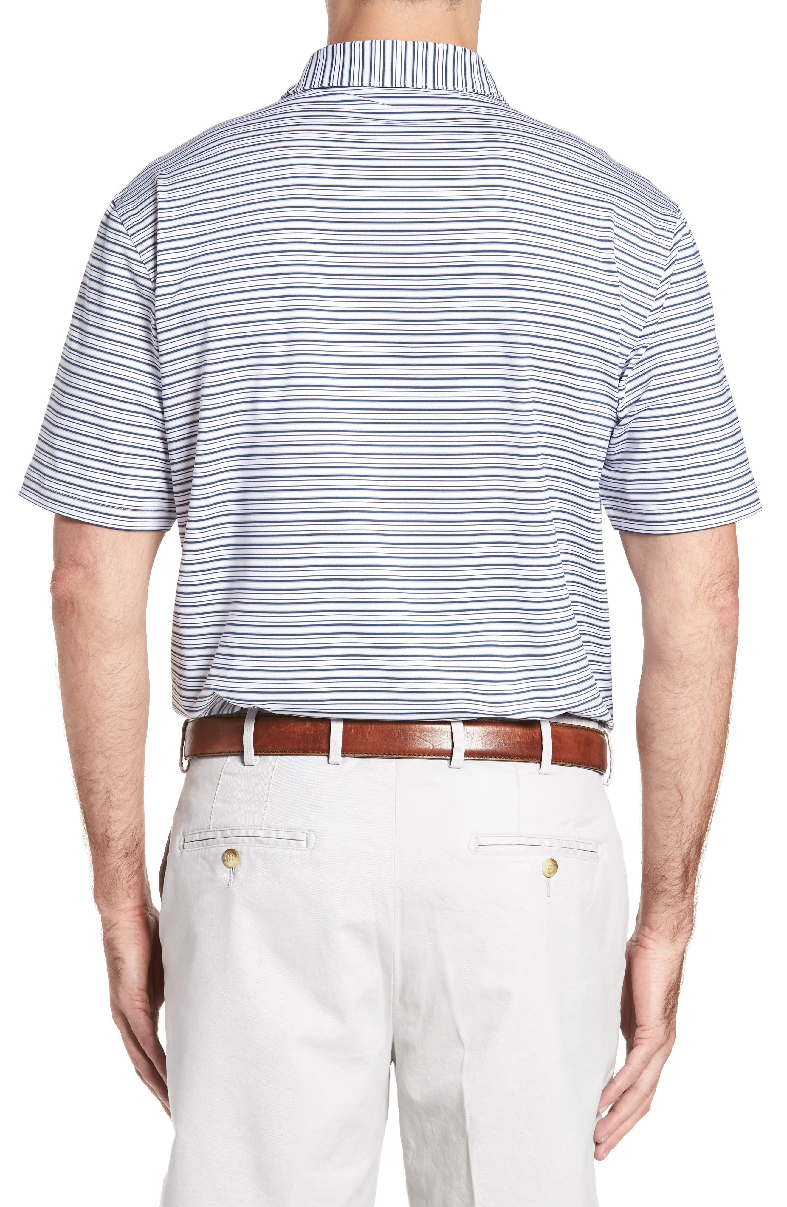 Alternate Image 2  - Peter Millar Barron Sean Stripe Jersey Polo