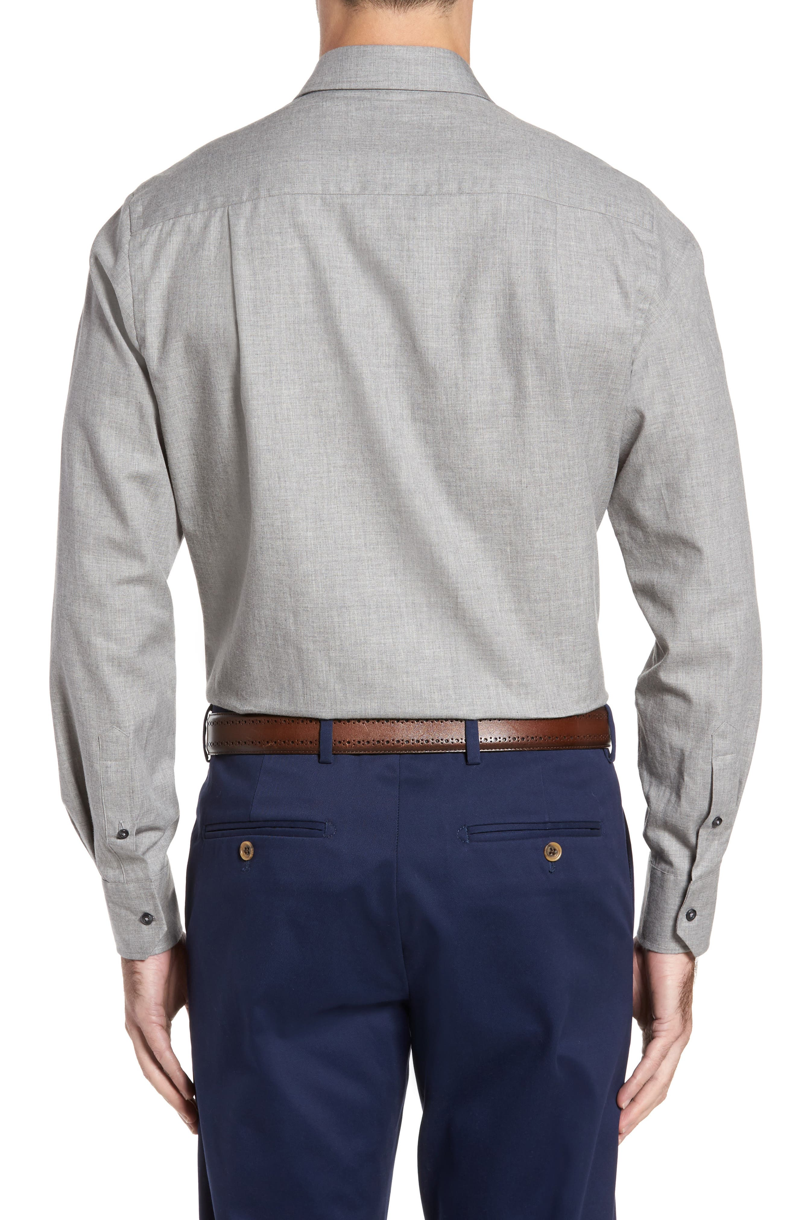Alternate Image 2  - David Donahue Regular Fit Sport Shirt