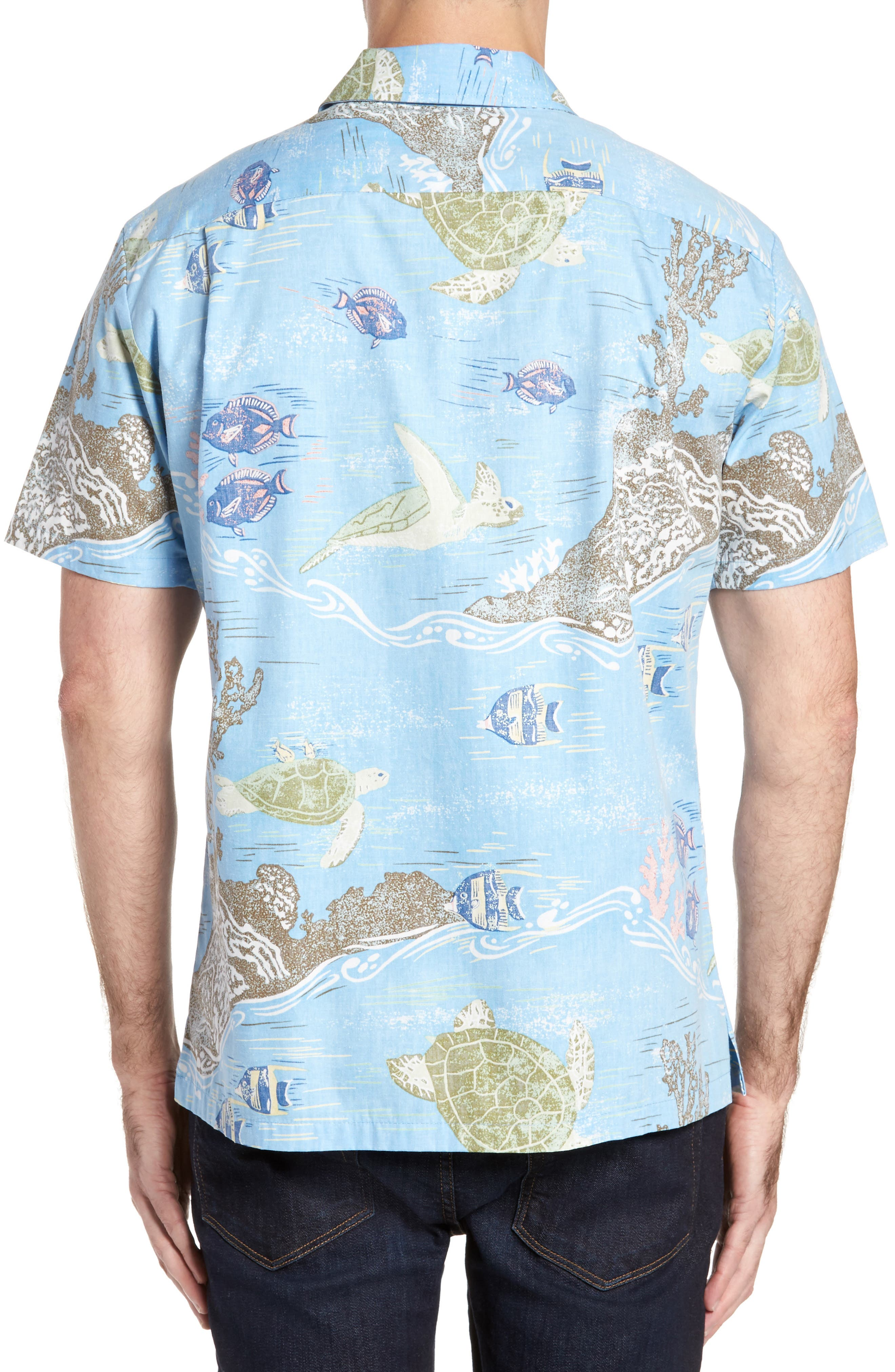 Alternate Image 2  - Kahala Laupapa Slim Fit Camp Shirt