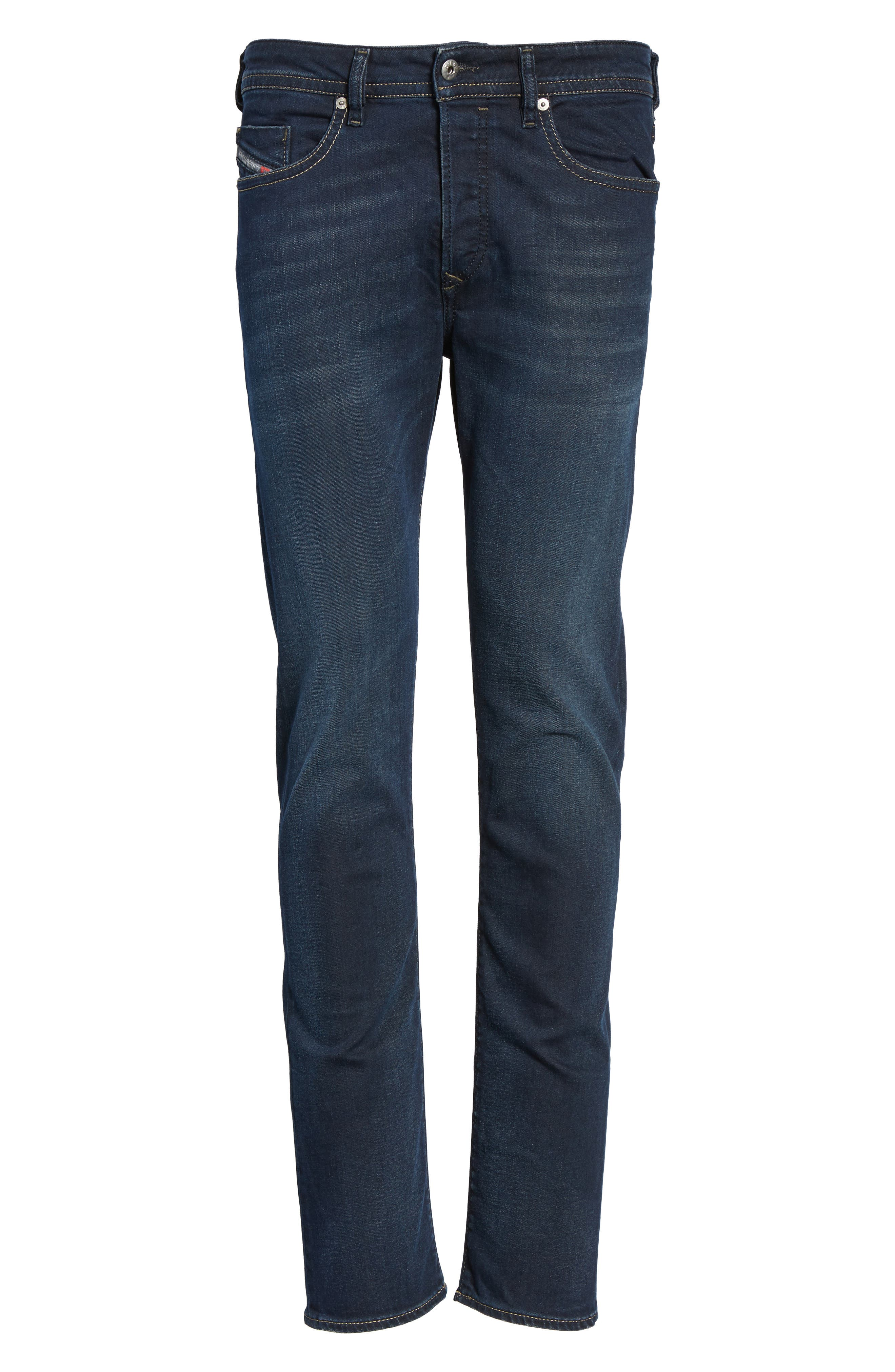 Buster Slim Straight Fit Jeans,                             Alternate thumbnail 6, color,                             Denim