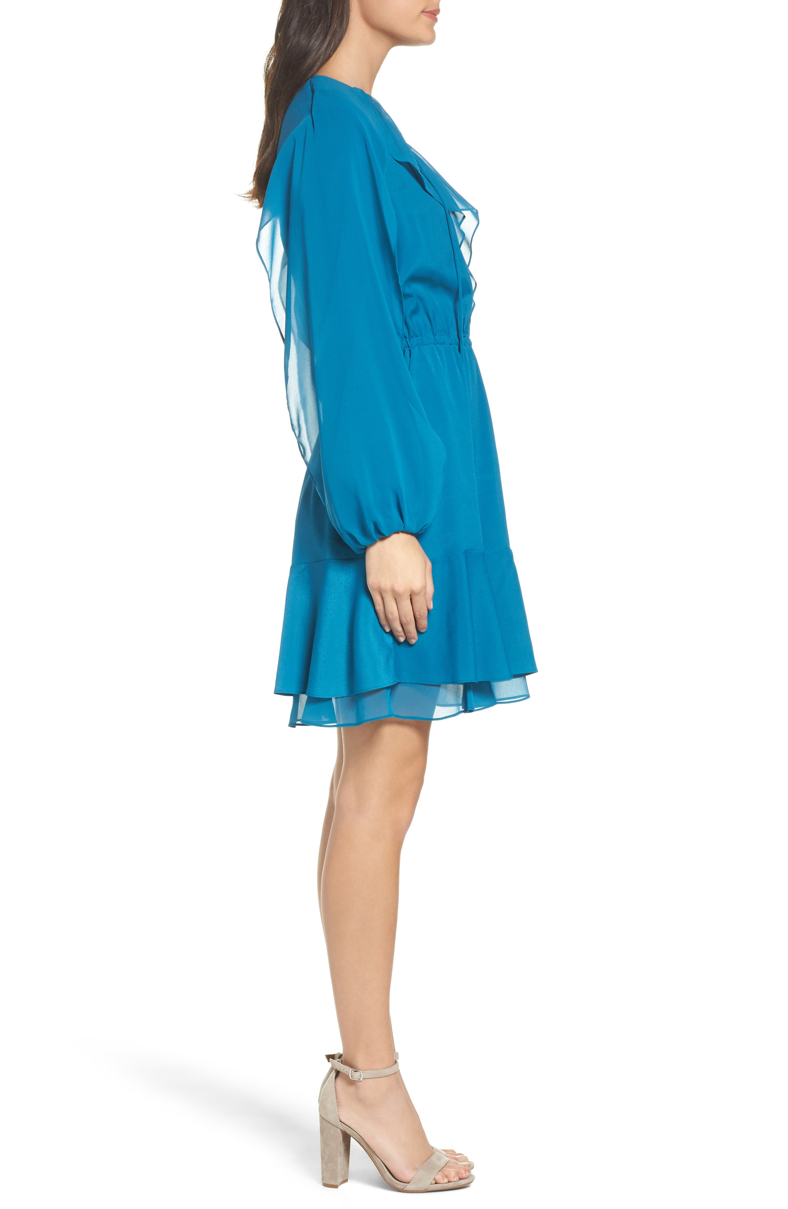 Alternate Image 3  - Kobi Halperin Keely Ruffle Blouson Dress (Nordstrom Exclusive)