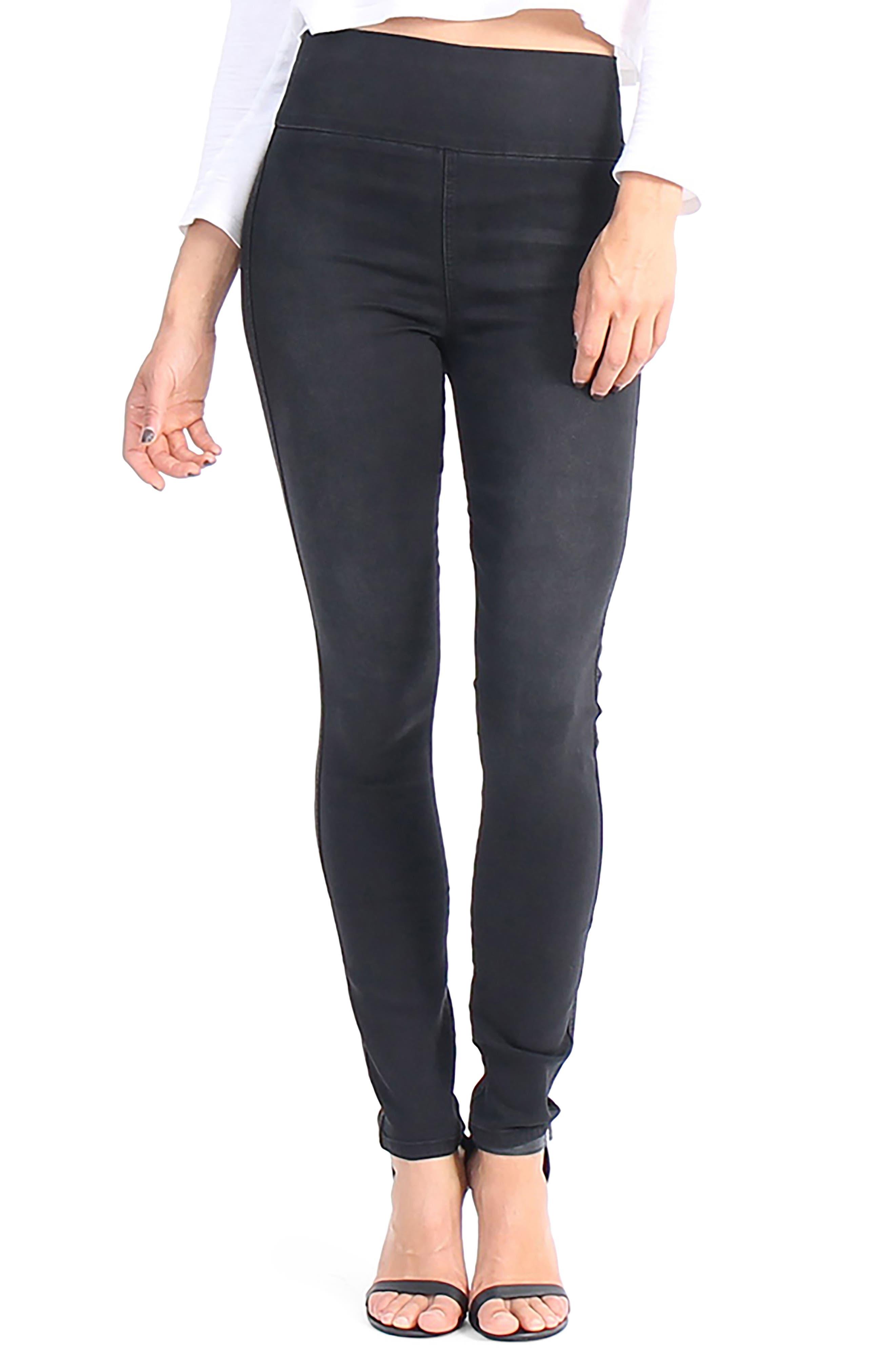 Main Image - Level 99 Devon Pull On Skinny Jeans (Dazed)
