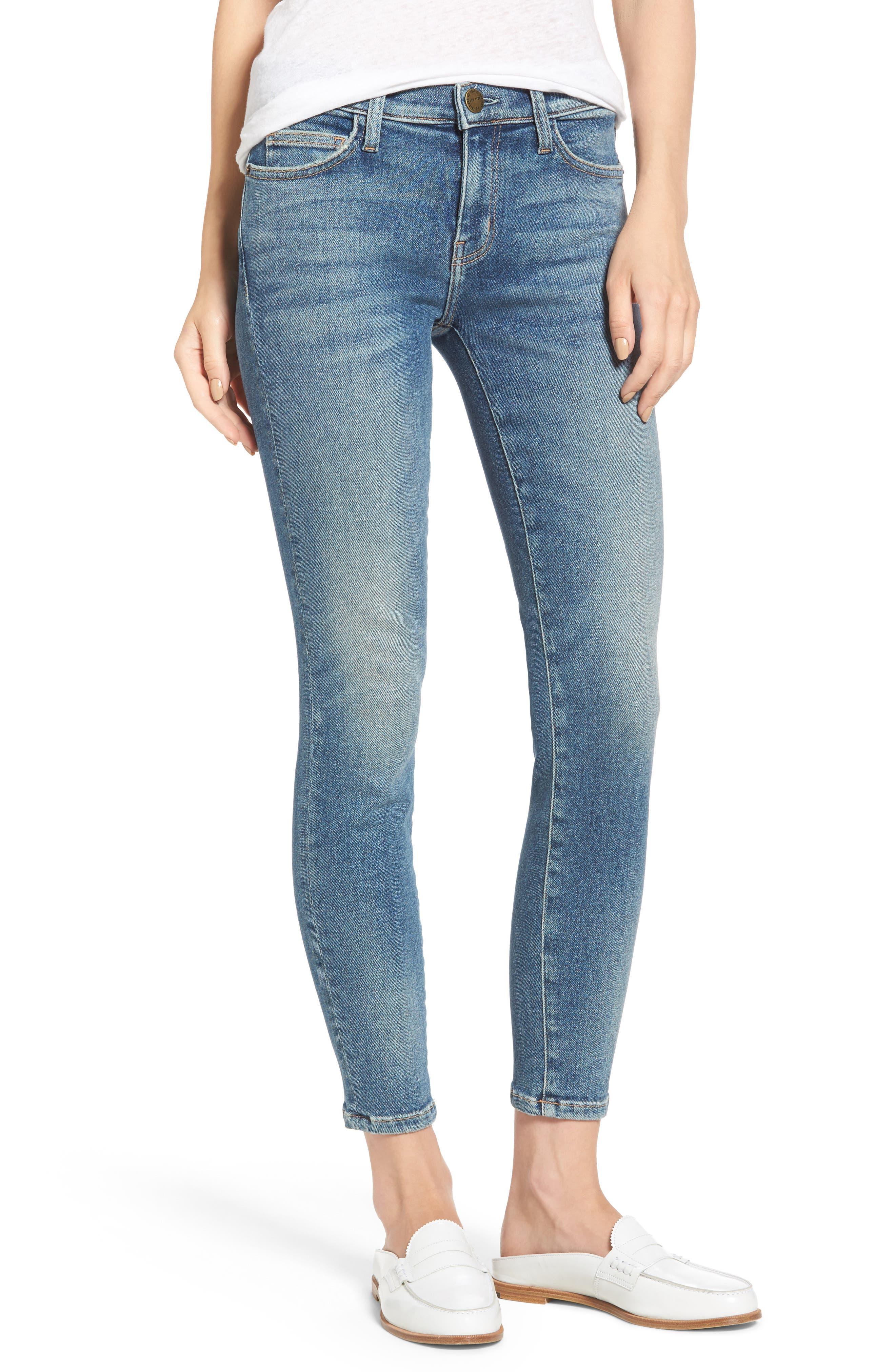 Alternate Image 1 Selected - Current/Elliott The Stiletto Ankle Skinny Jeans (Ashurst)