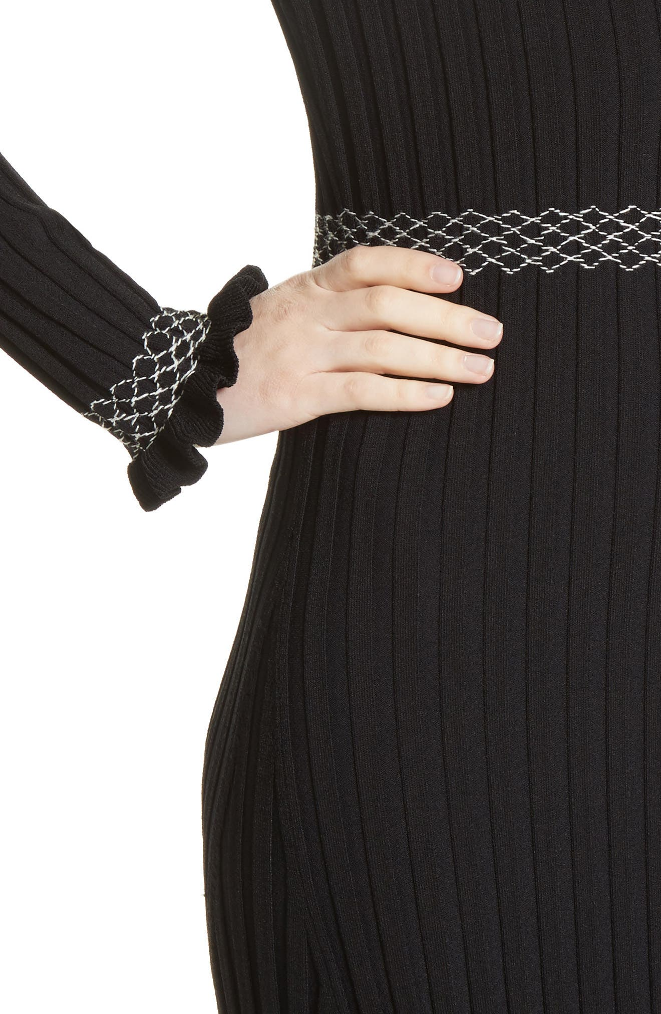 Alternate Image 4  - Altuzarra Ruffle Hem Knit Dress