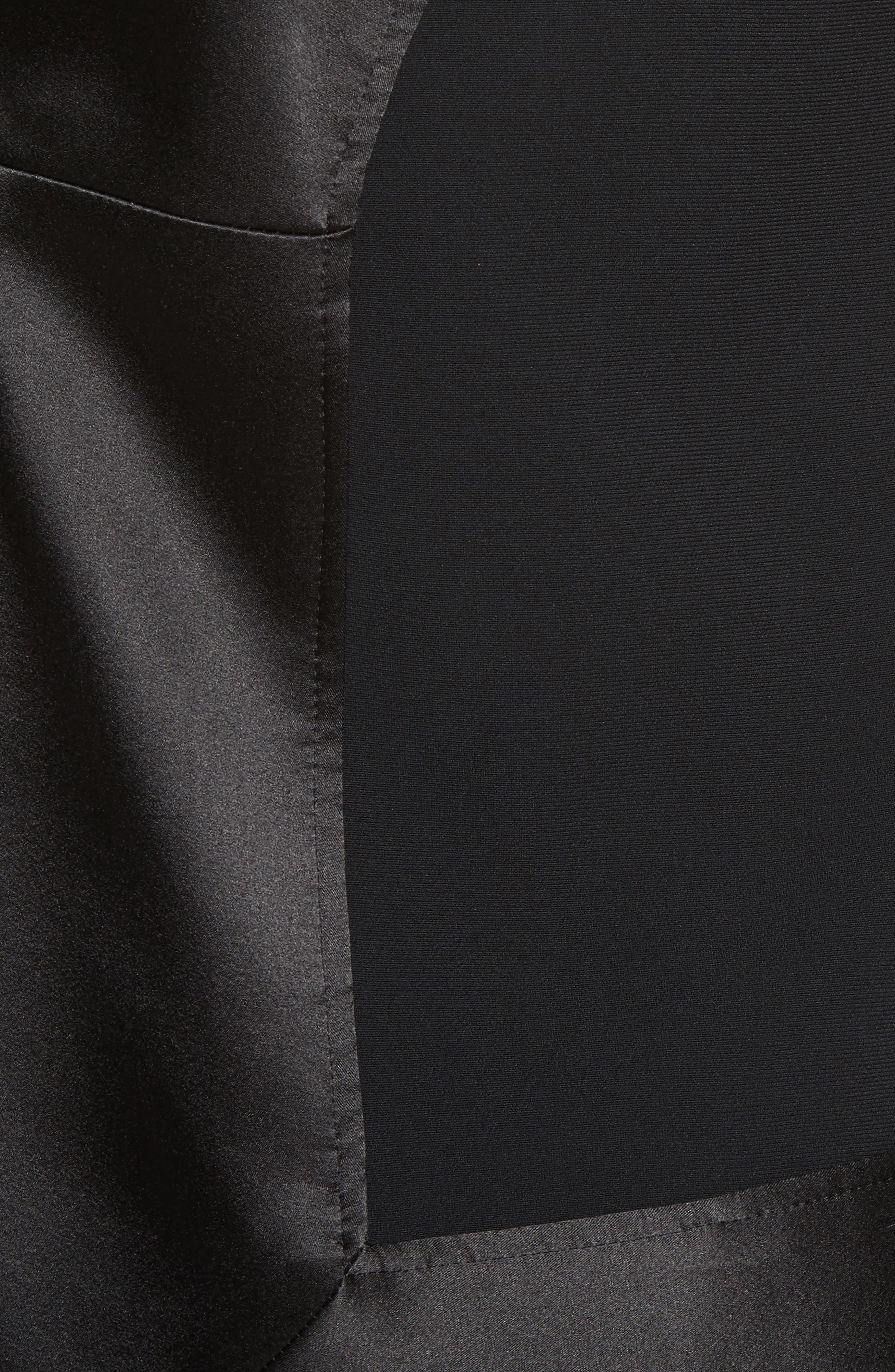Fringe Trim Wrap Tank,                             Alternate thumbnail 6, color,                             Black