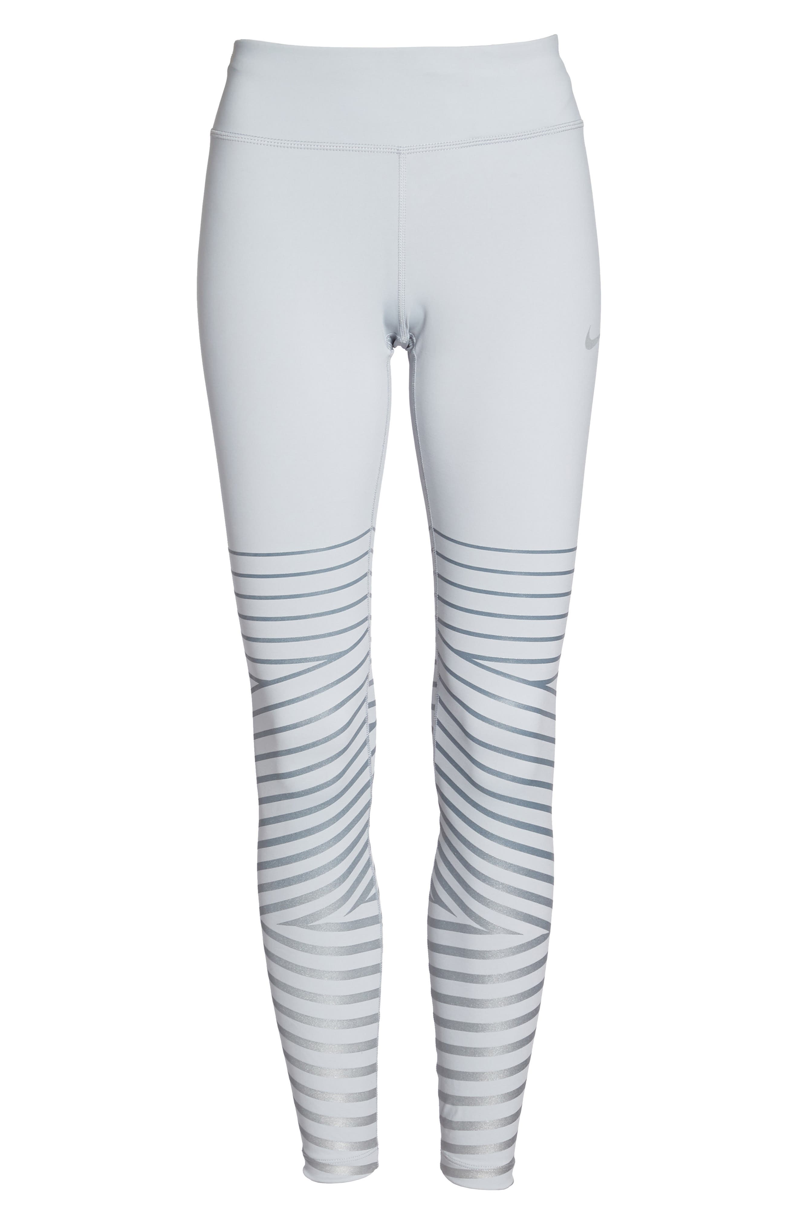Power Epic Lux Flash Running Tights,                             Alternate thumbnail 7, color,                             Wolf Grey