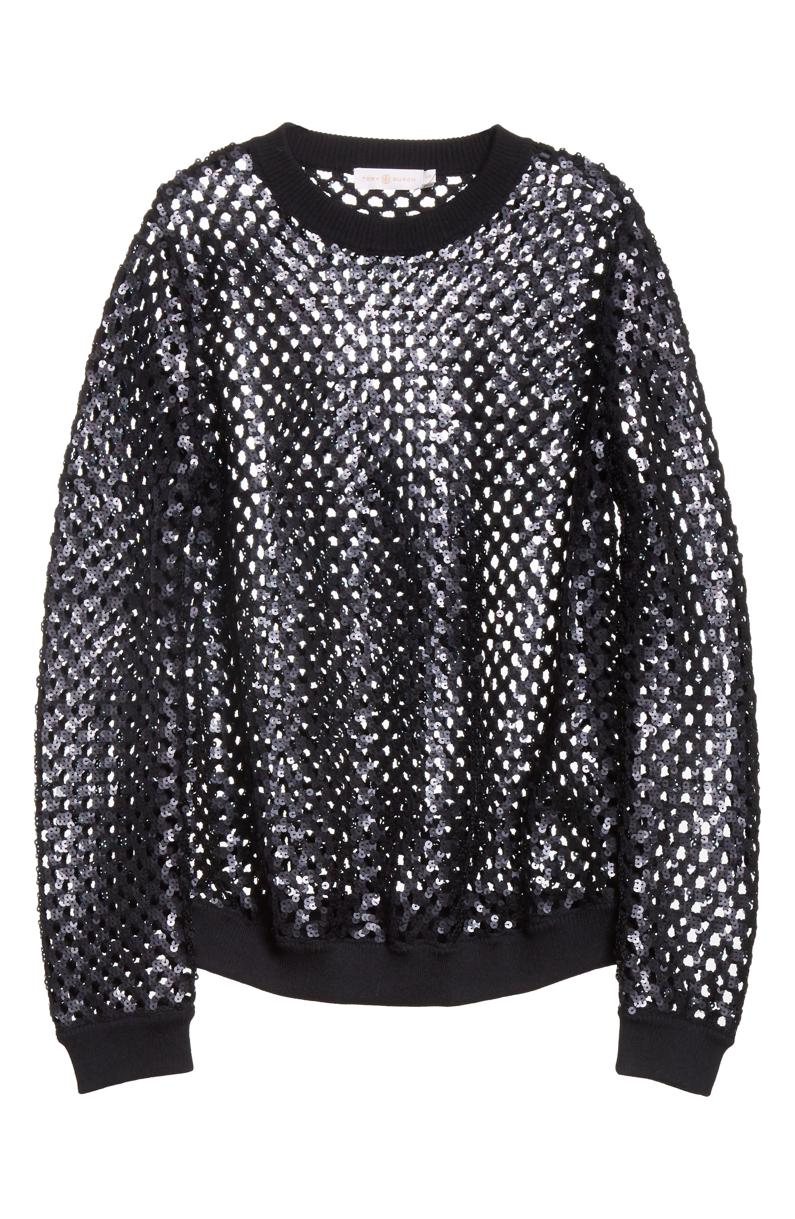 Alternate Image 6  - Tory Burch Lansing Sequin Mesh Sweater