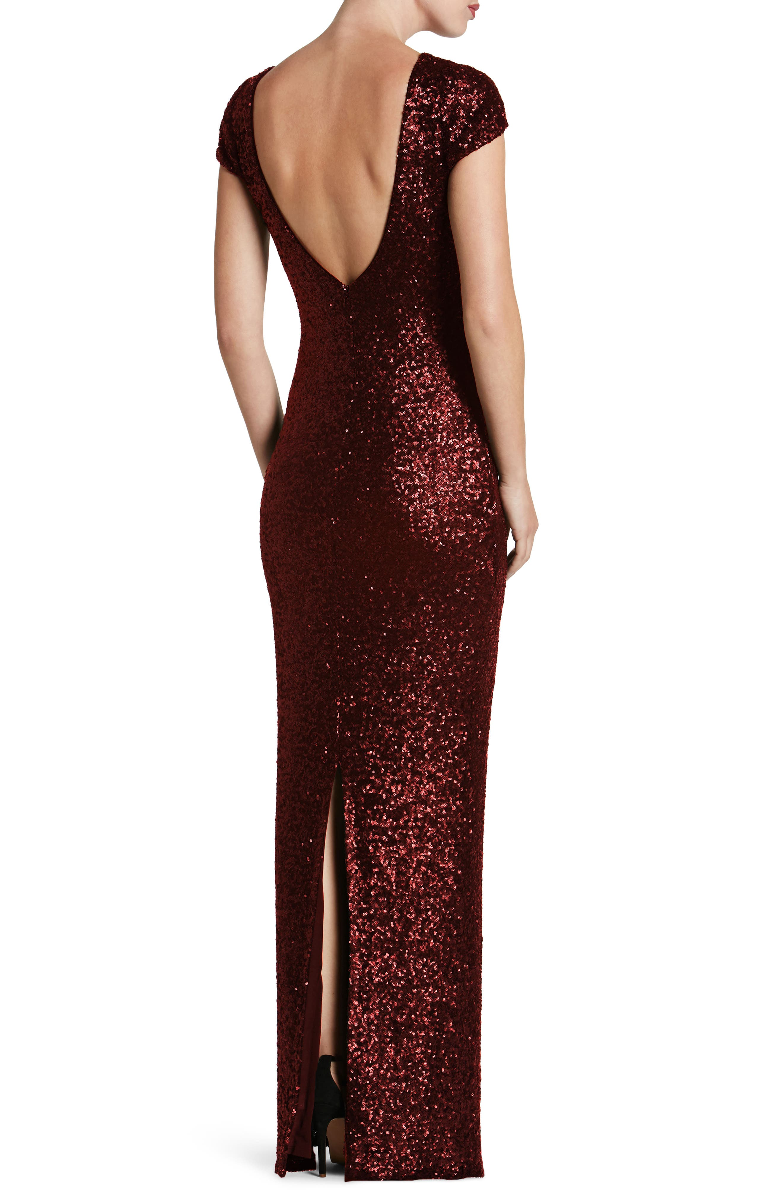 Alternate Image 2  - Dress the Population Teresa Body-Con Gown (Nordstrom Exclusive)