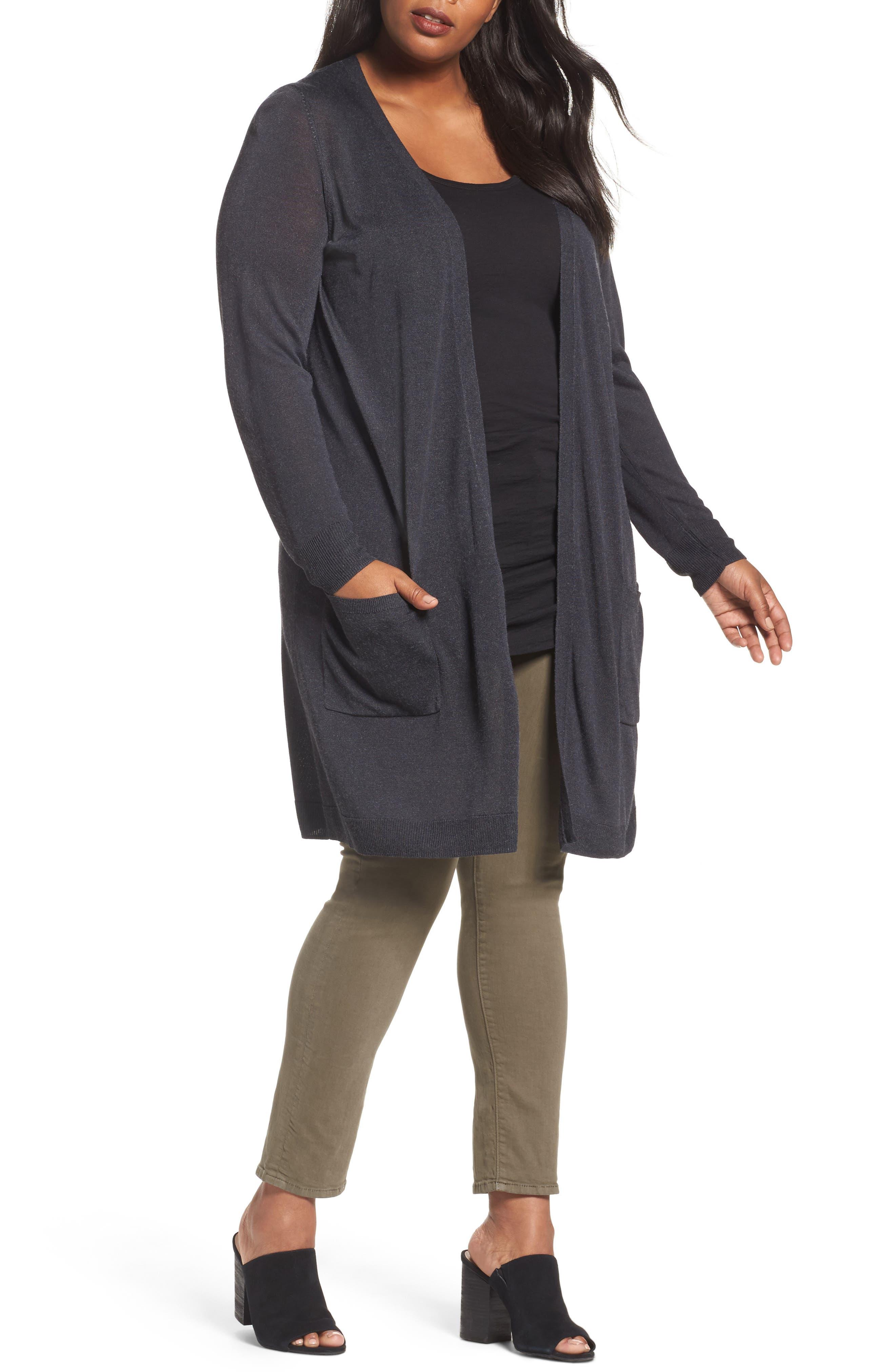 Sejour Long Cardigan (Plus Size)