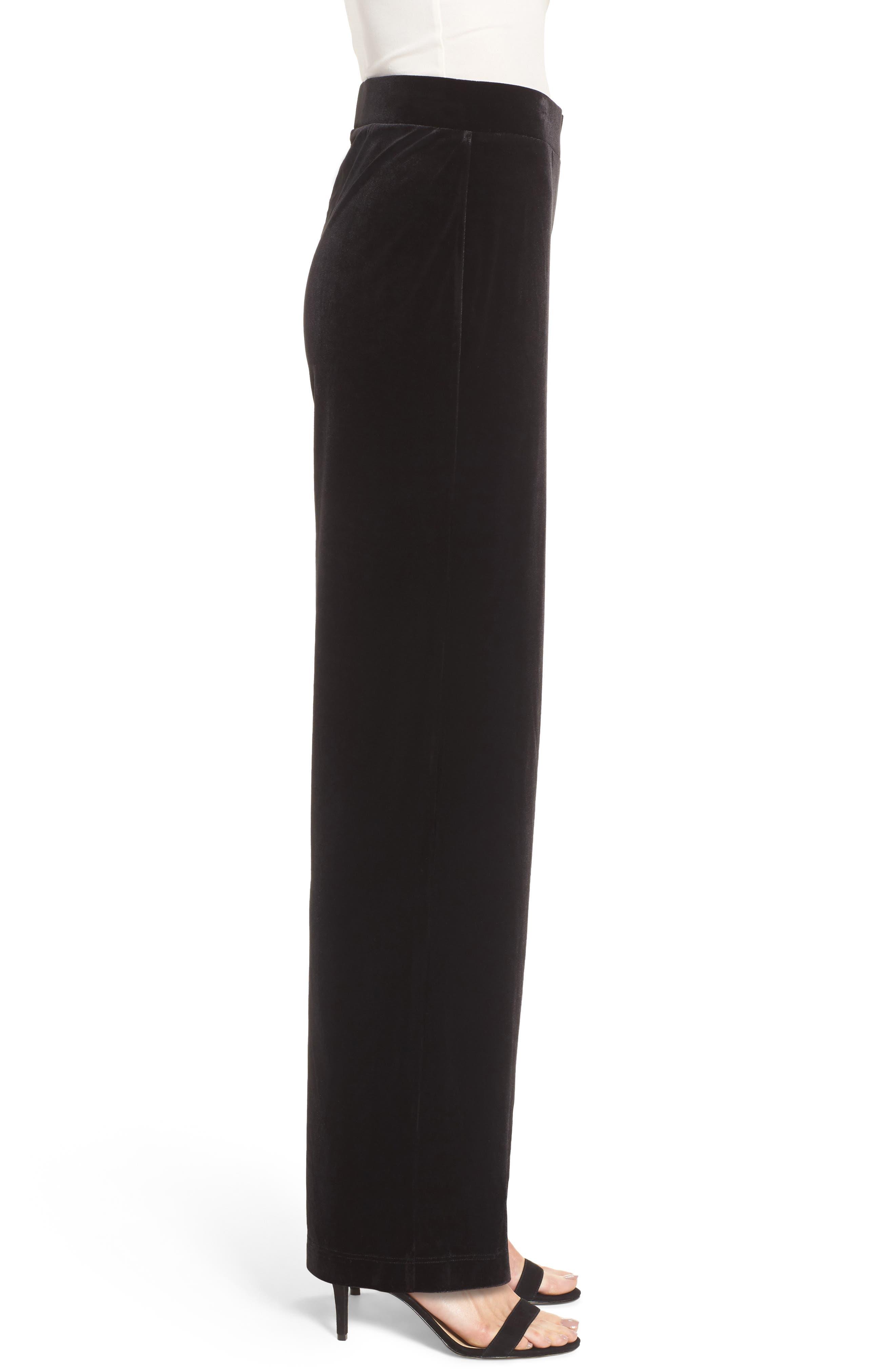 Velvet Pants,                             Alternate thumbnail 3, color,                             Rich Black