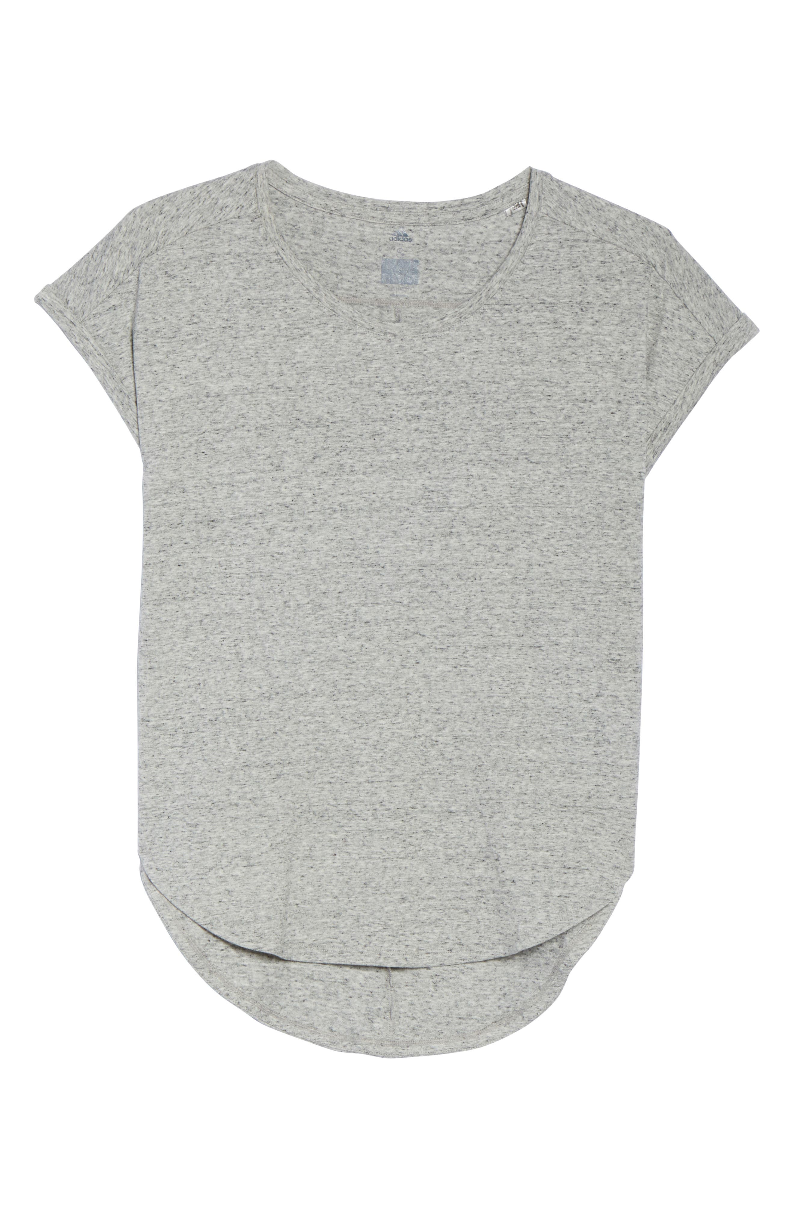 Performer High/Low Climalite<sup>®</sup> Tee,                             Alternate thumbnail 7, color,                             Grey