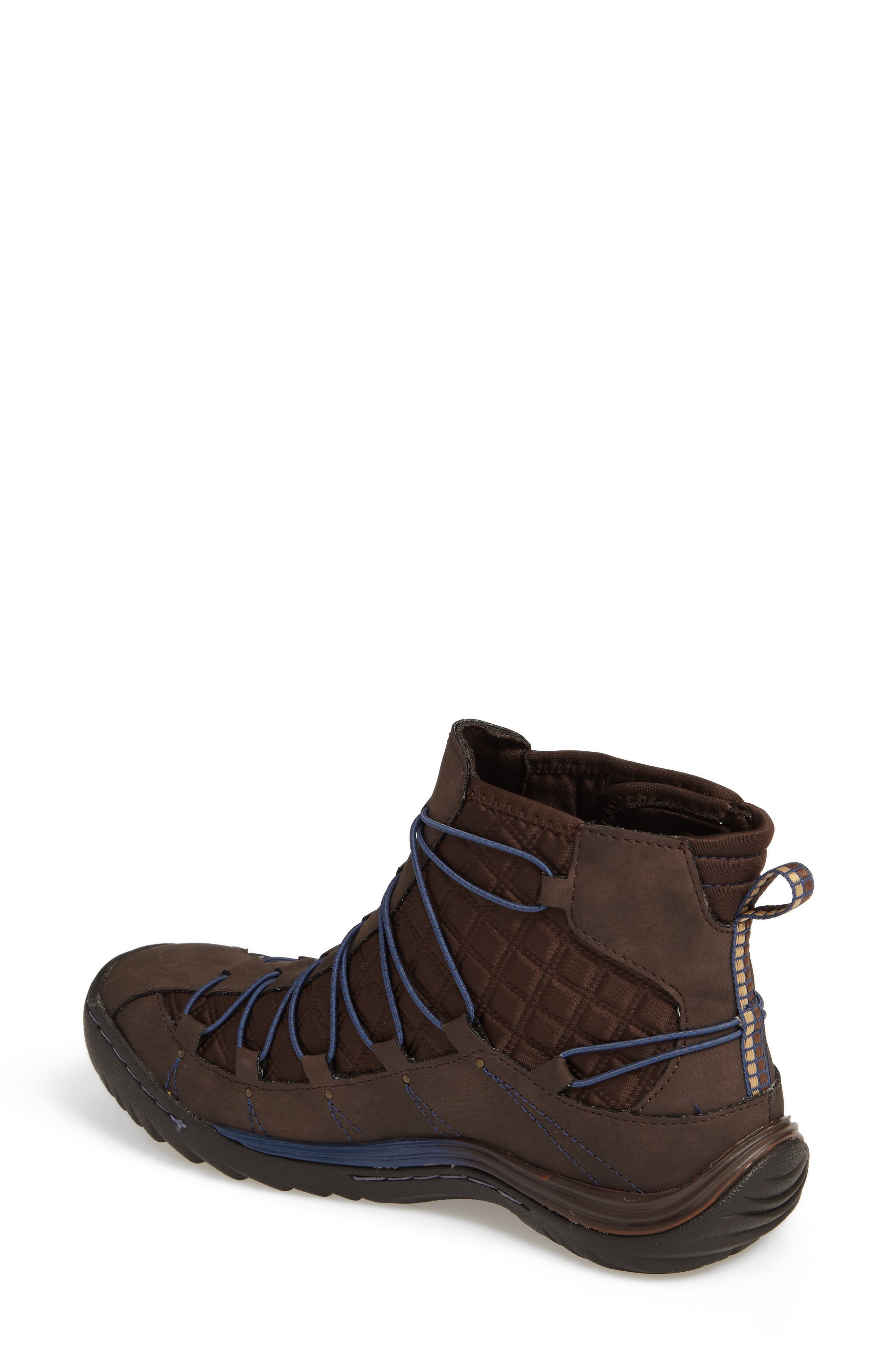 Spirit Water Resistant Bootie,                             Alternate thumbnail 2, color,                             Brown Textile