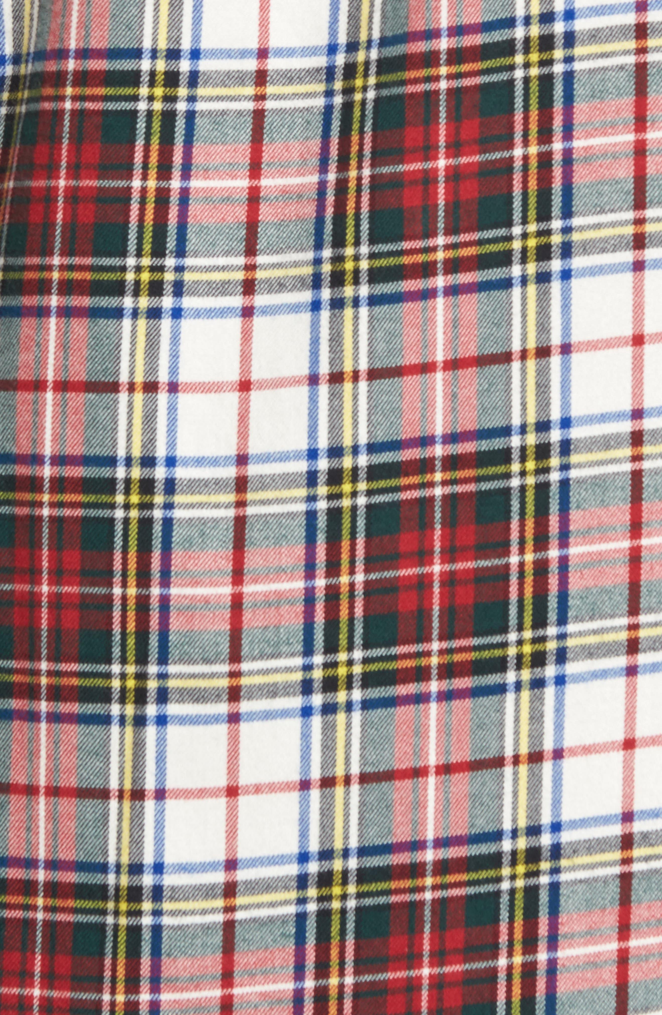 Alvin Tailored Fit Plaid Sport Shirt,                             Alternate thumbnail 5, color,                             White