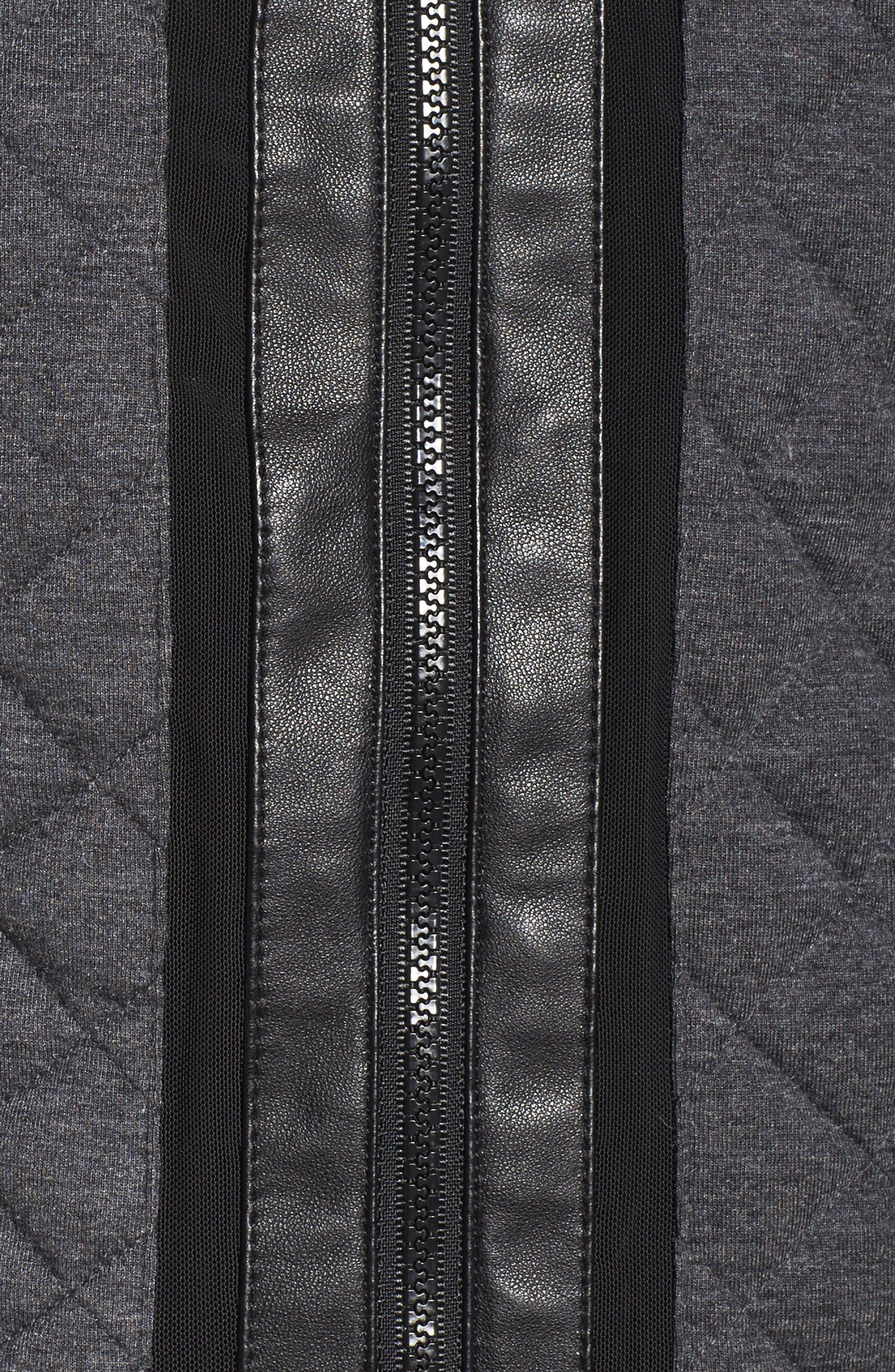 Alternate Image 5  - Blanc Noir Mesh Inset Moto Jacket