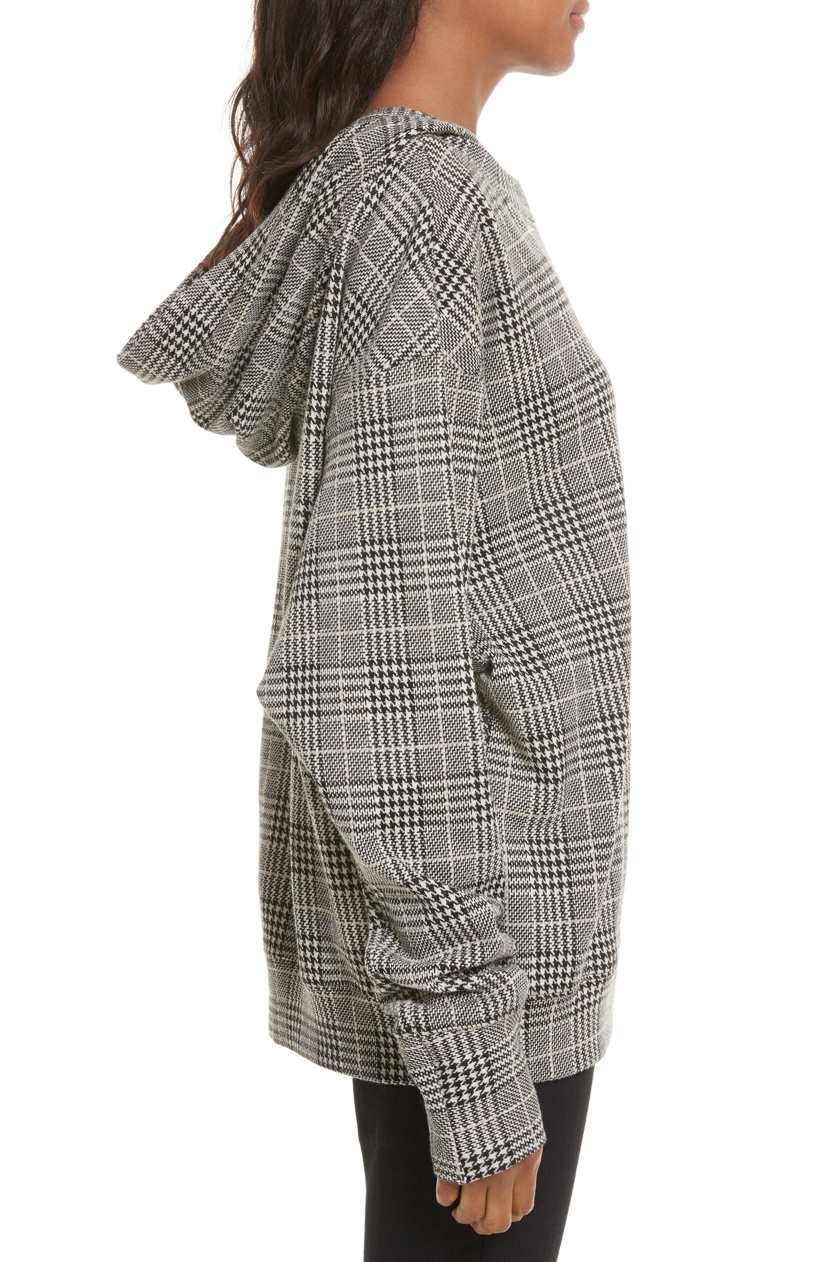 Alternate Image 3  - Tracy Reese Embellished Plaid Hoodie