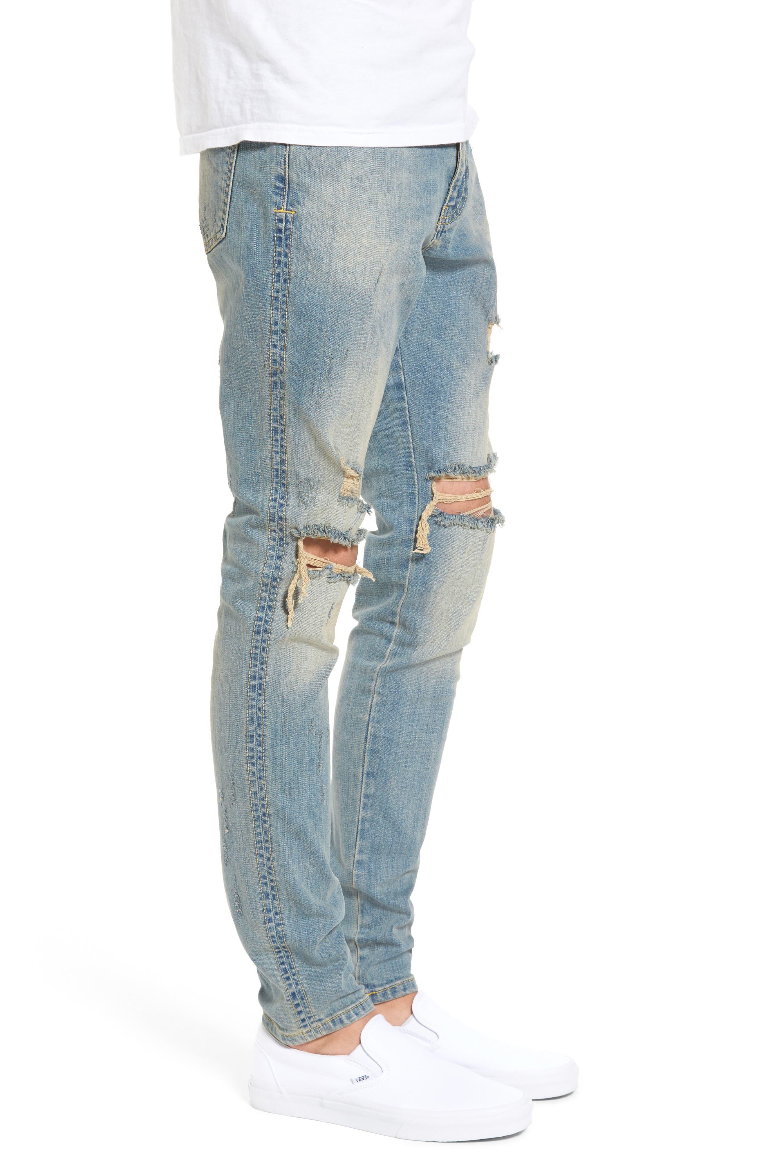 Alternate Image 3  - Represent Slim Fit Destroyed Jeans