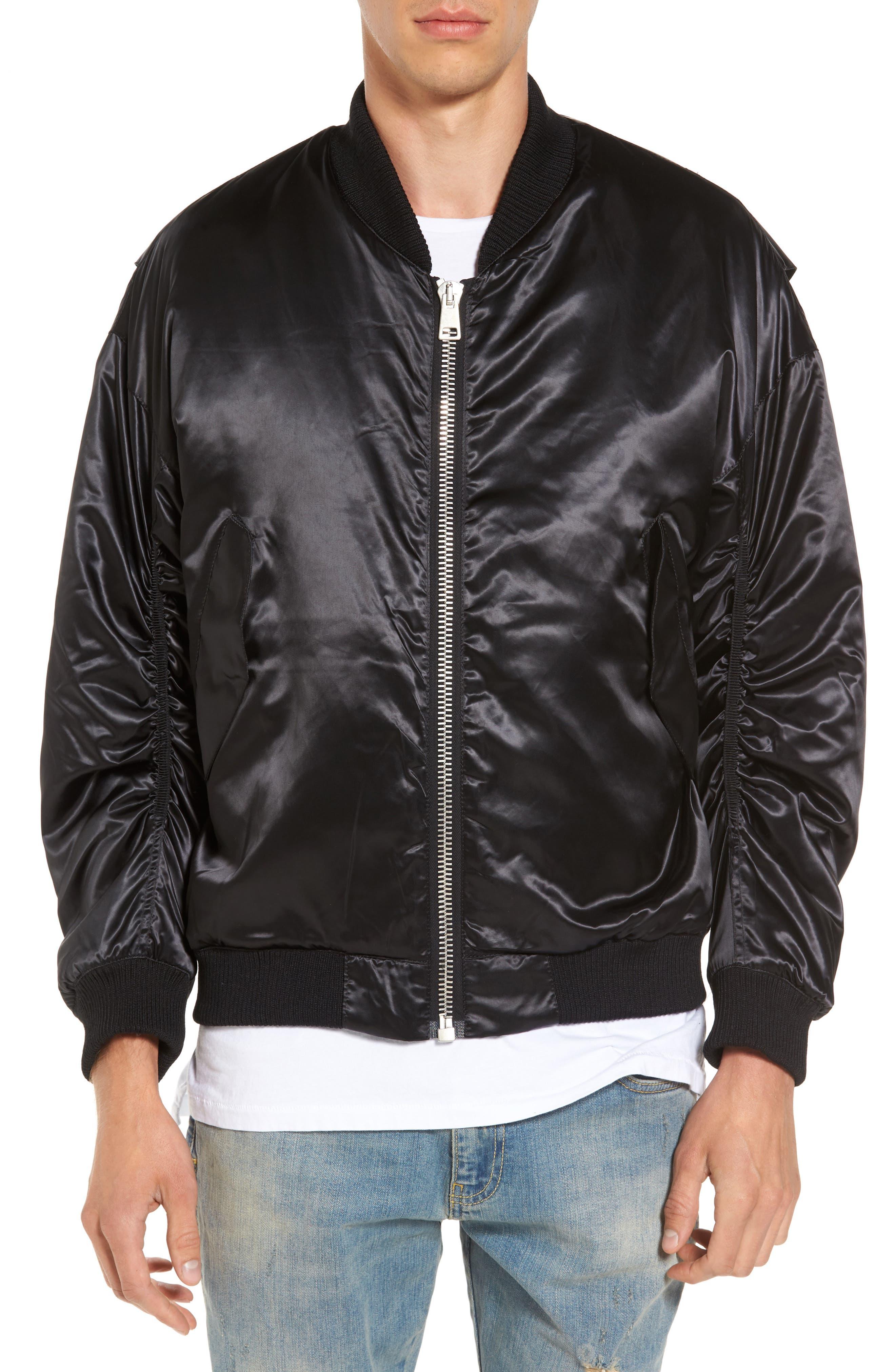 Classic Bomber Jacket,                         Main,                         color, Black
