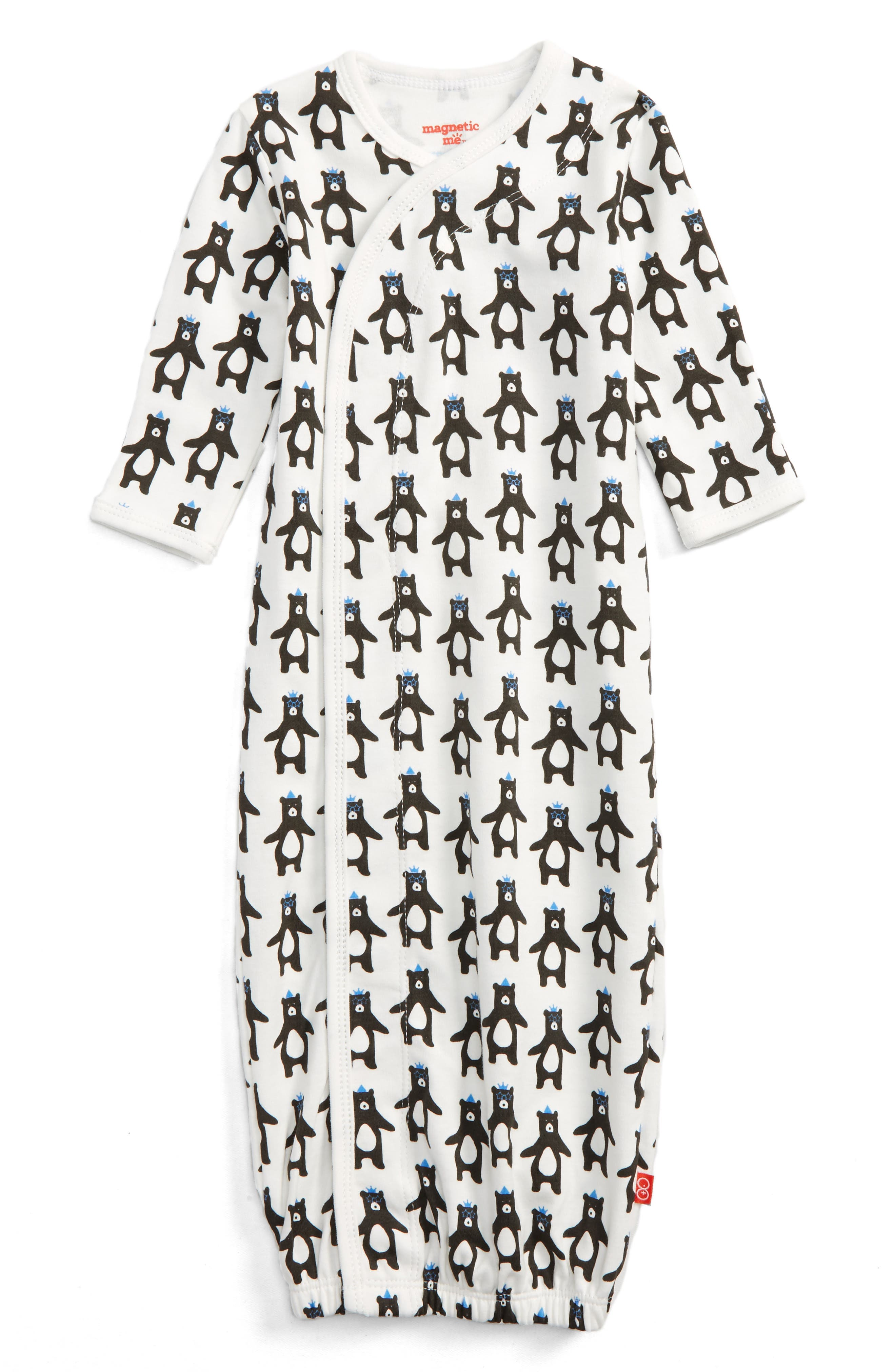 Main Image - Magnetic Me Print Gown (Baby Boys)