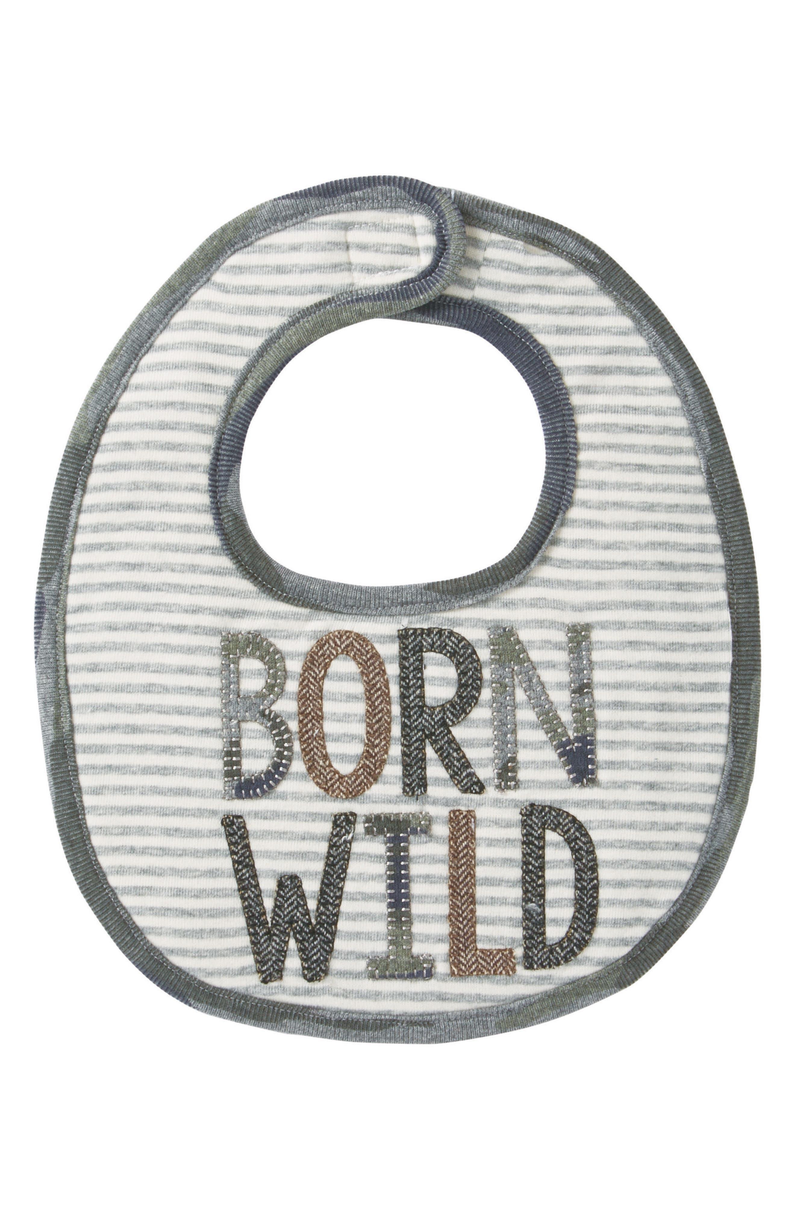 Main Image - Mud Pie Born Wild Bib (Baby)
