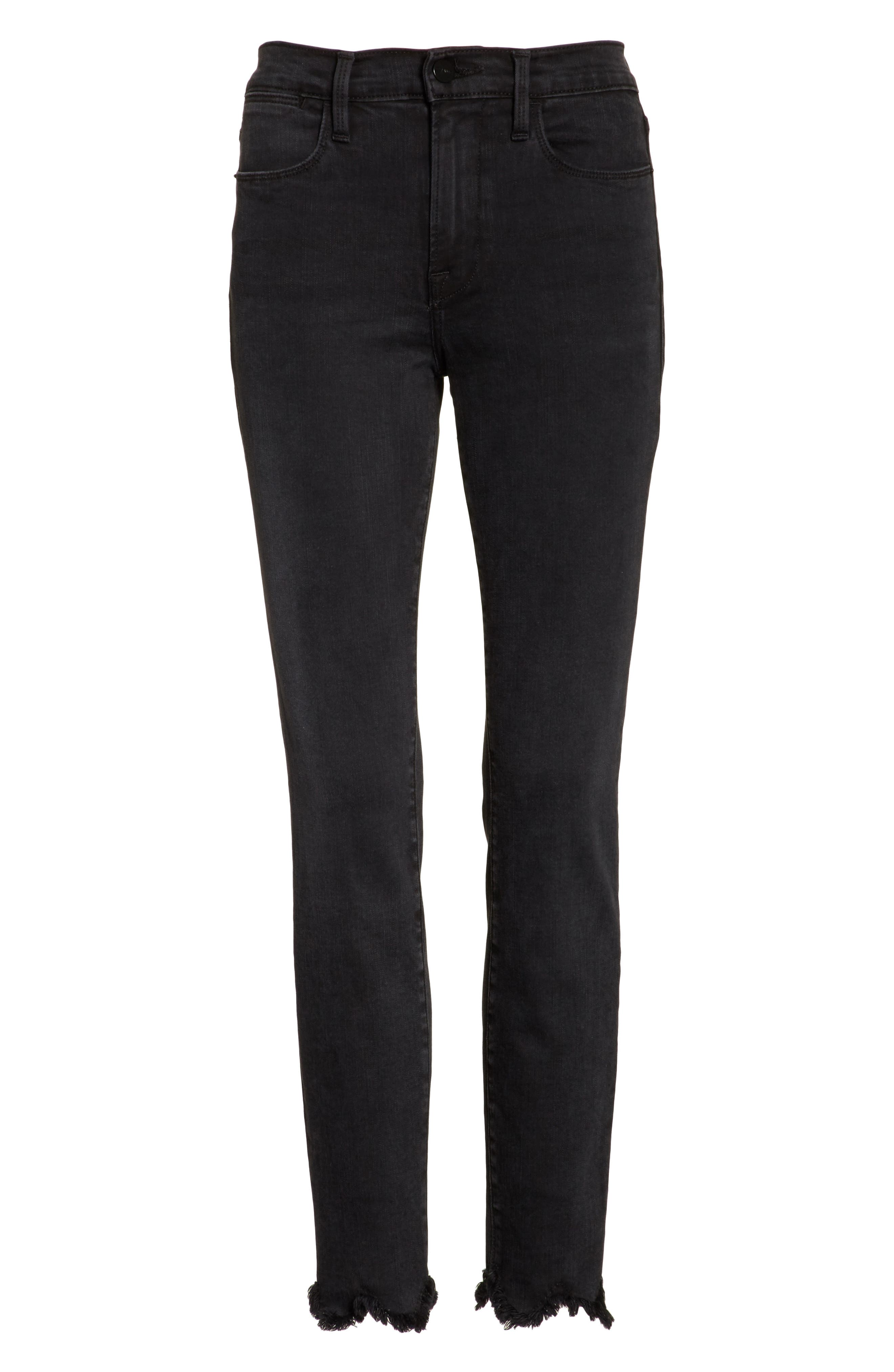 Alternate Image 7  - FRAME Le High Frayed Ankle Skinny Jeans (Whittier)