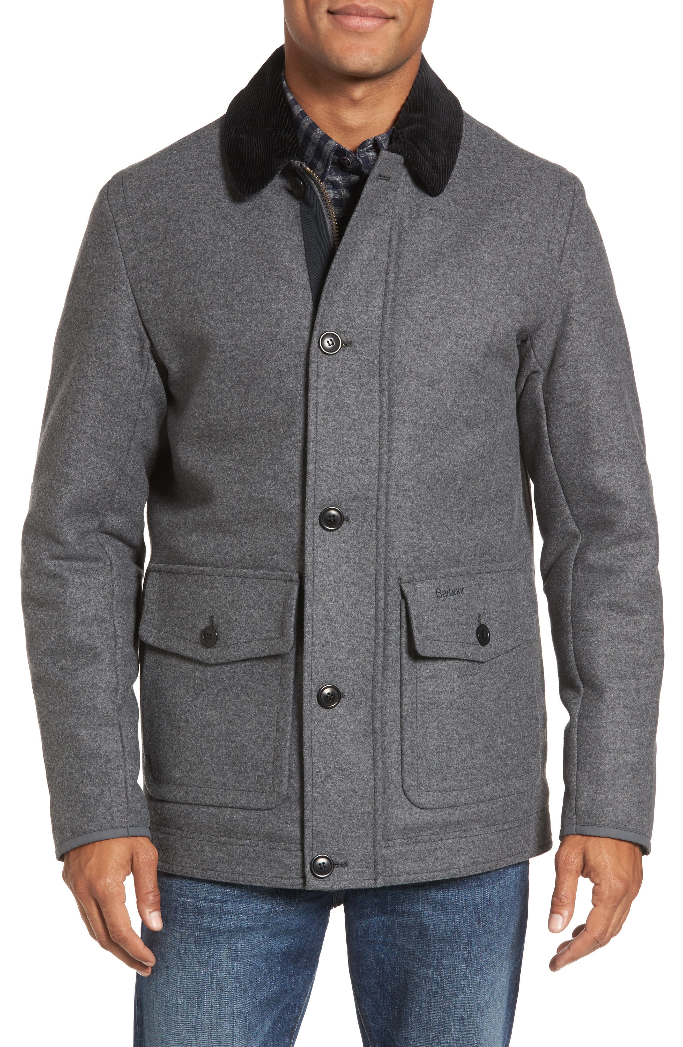 Chingle Wool Blend Deck Jacket,                             Alternate thumbnail 4, color,                             Grey