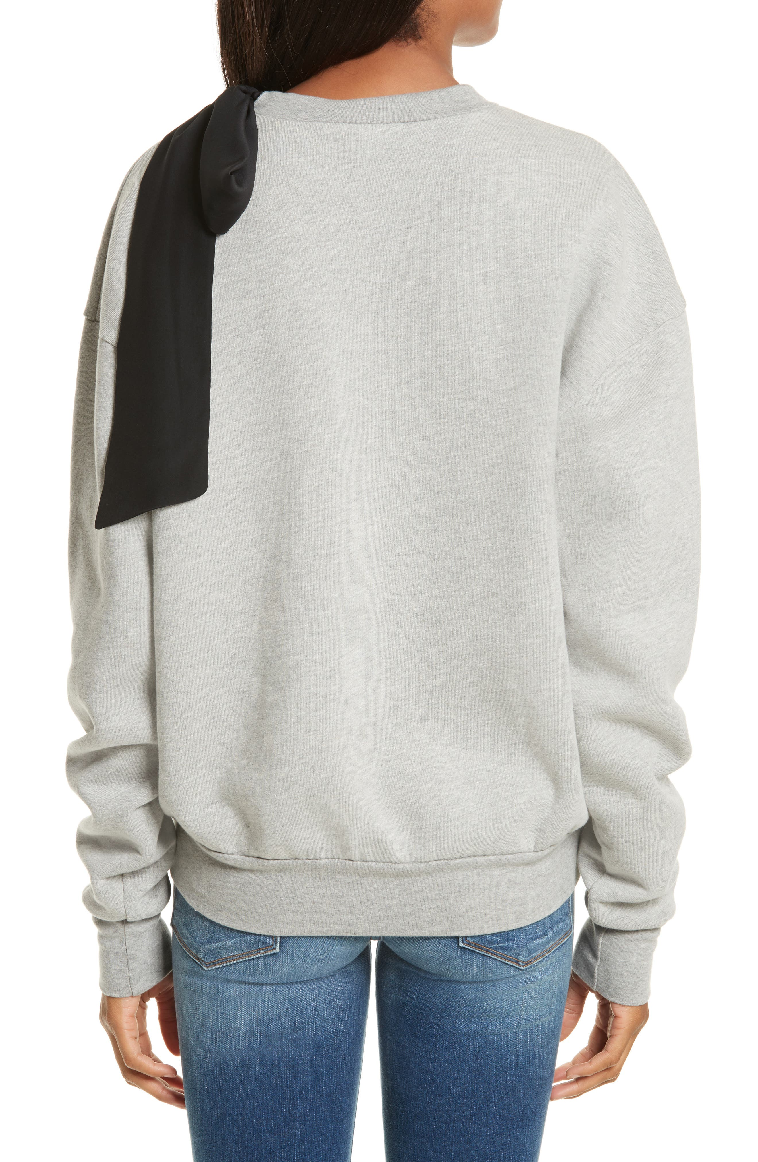Bow Sweatshirt,                             Alternate thumbnail 2, color,                             Gris