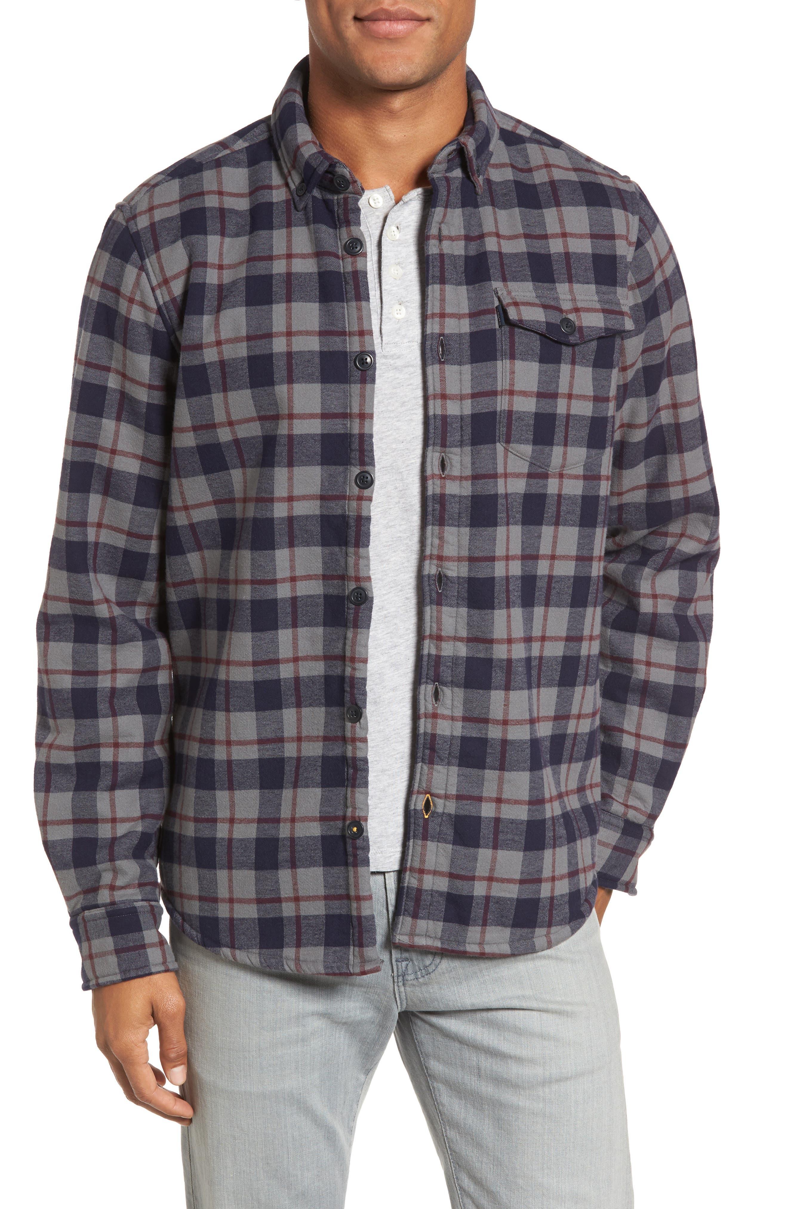 Hamilton Regular Fit Faux Fur Lined Shirt Jacket,                             Main thumbnail 1, color,                             Grey