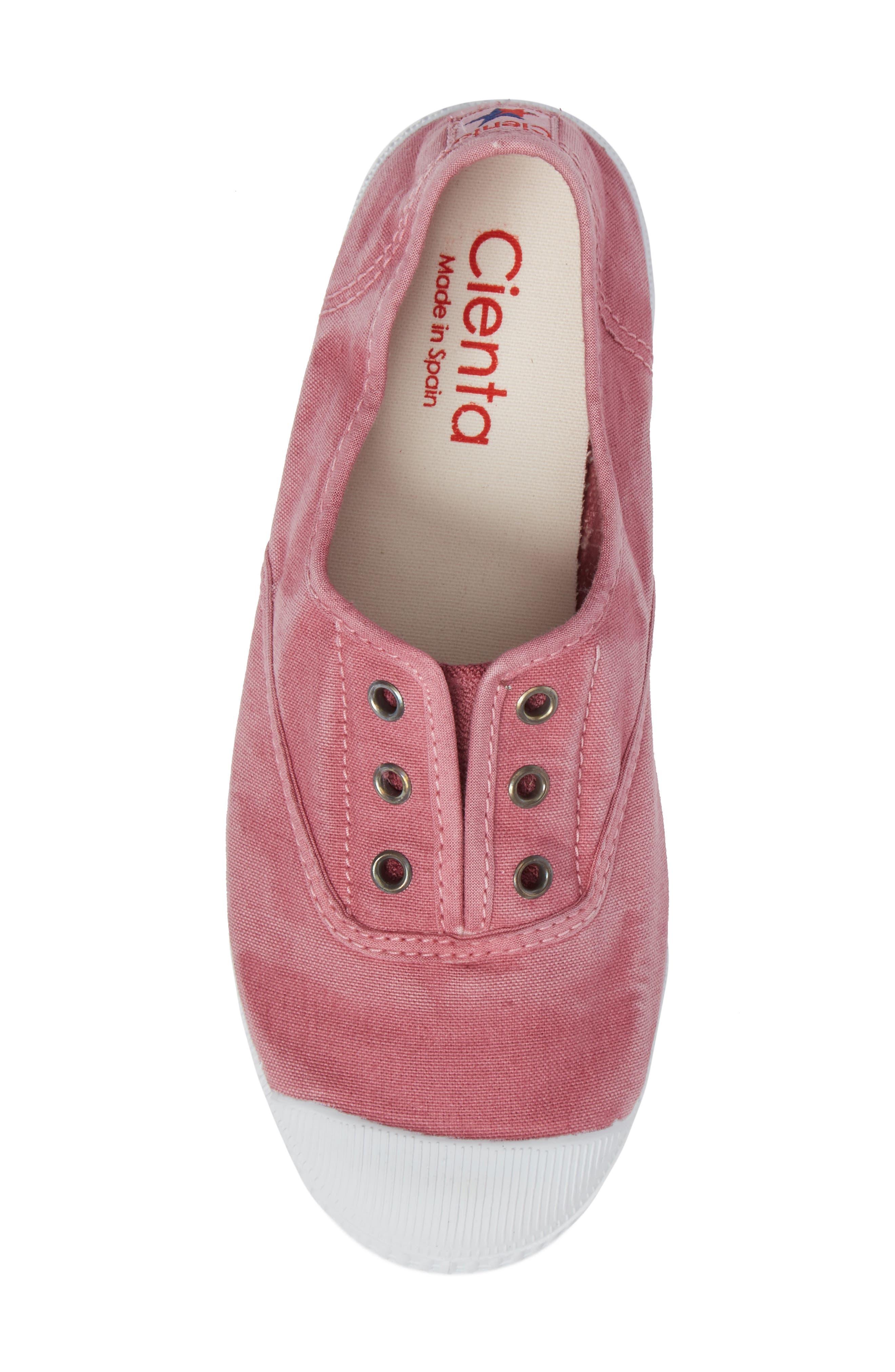 Laceless Slip-On Sneaker,                             Alternate thumbnail 5, color,                             Pink