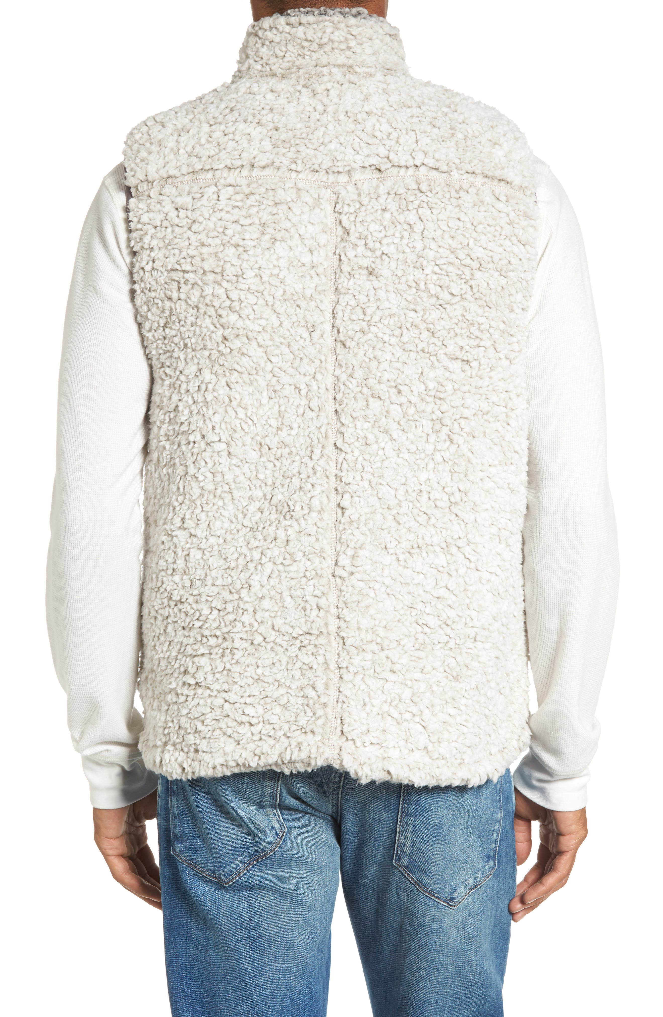 Double Up Frosty Tipped Faux Fur Vest,                             Alternate thumbnail 2, color,                             Putty