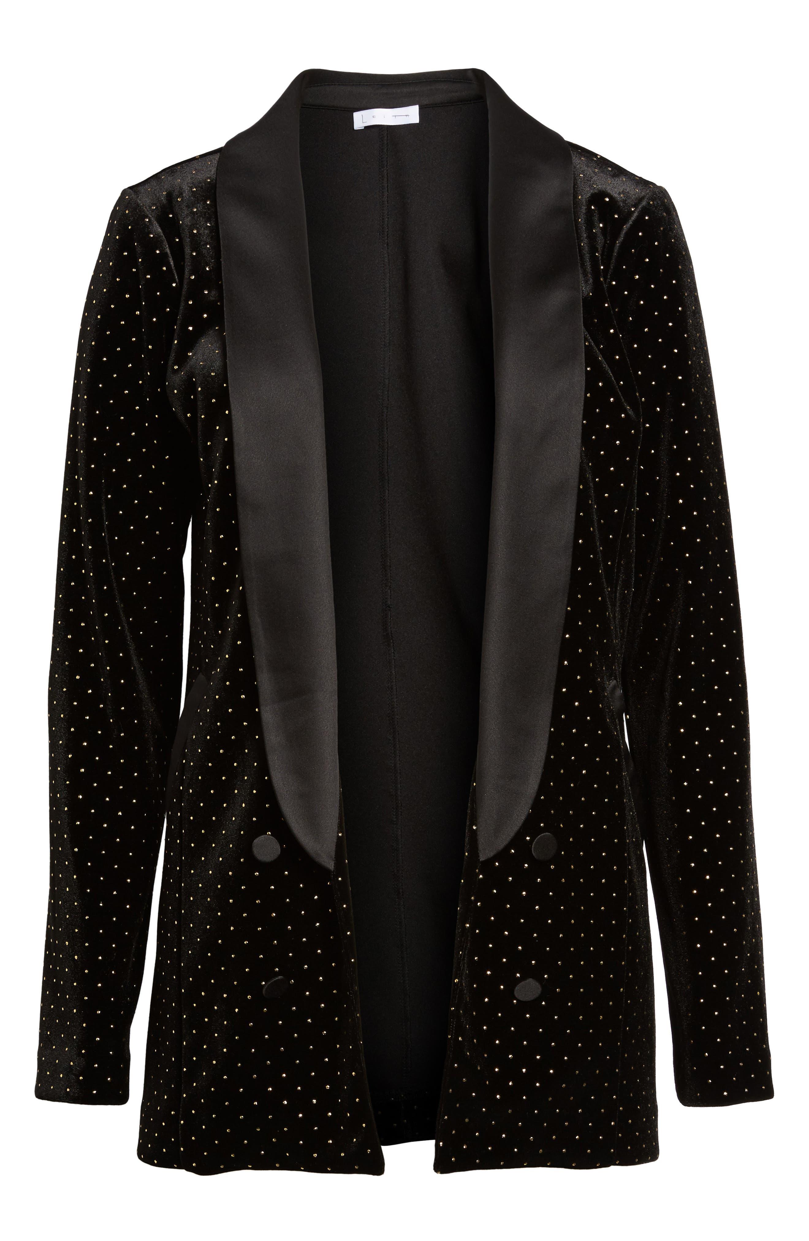 Alternate Image 6  - Leith Studded Velour Blazer
