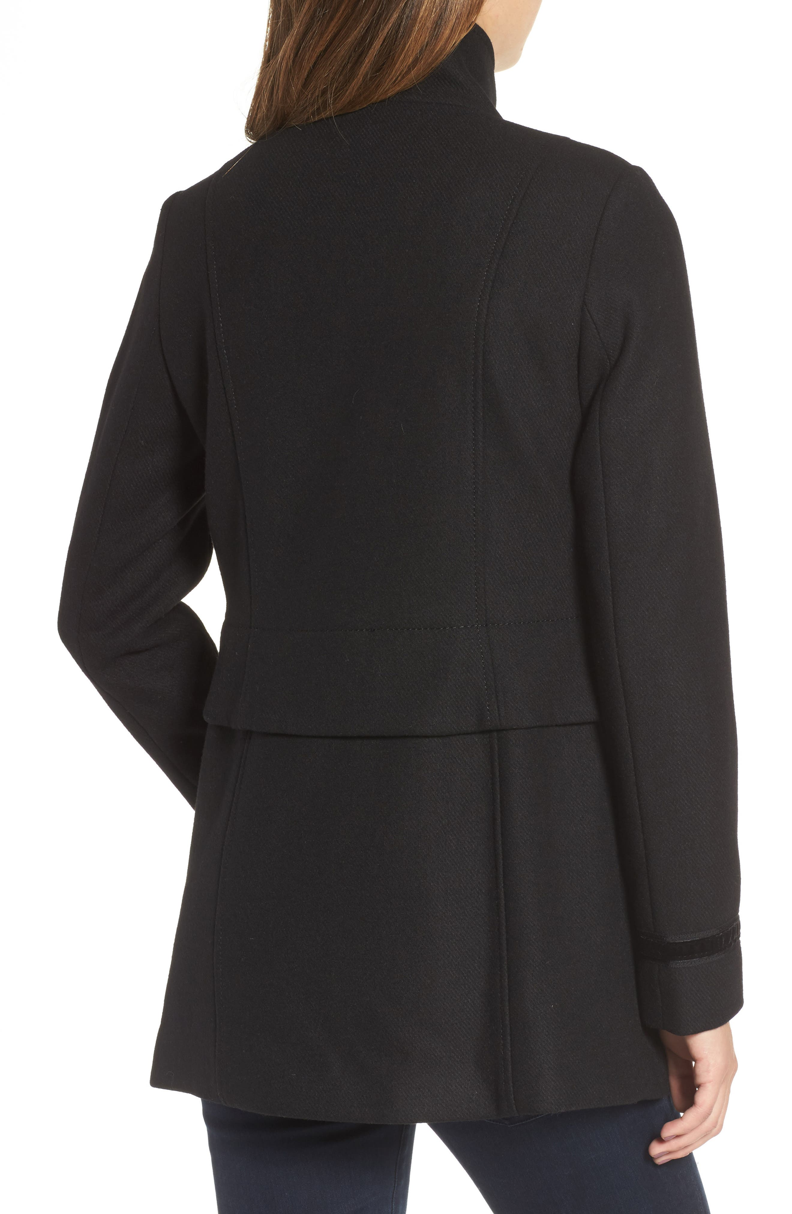 Alternate Image 2  - Vince Camuto Wool Blend Military Coat