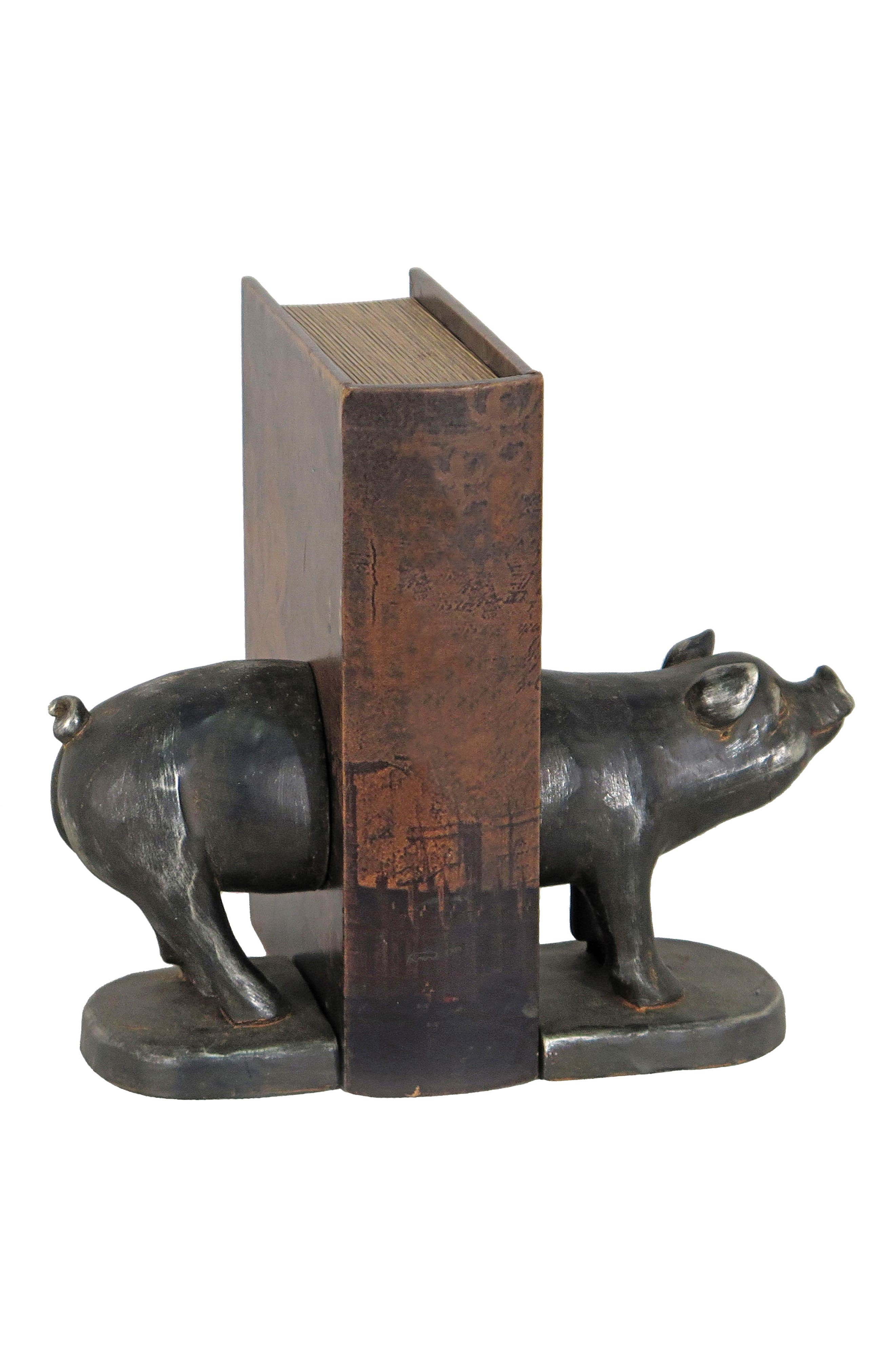 Main Image - Foreside Piglet Set of 2 Bookends