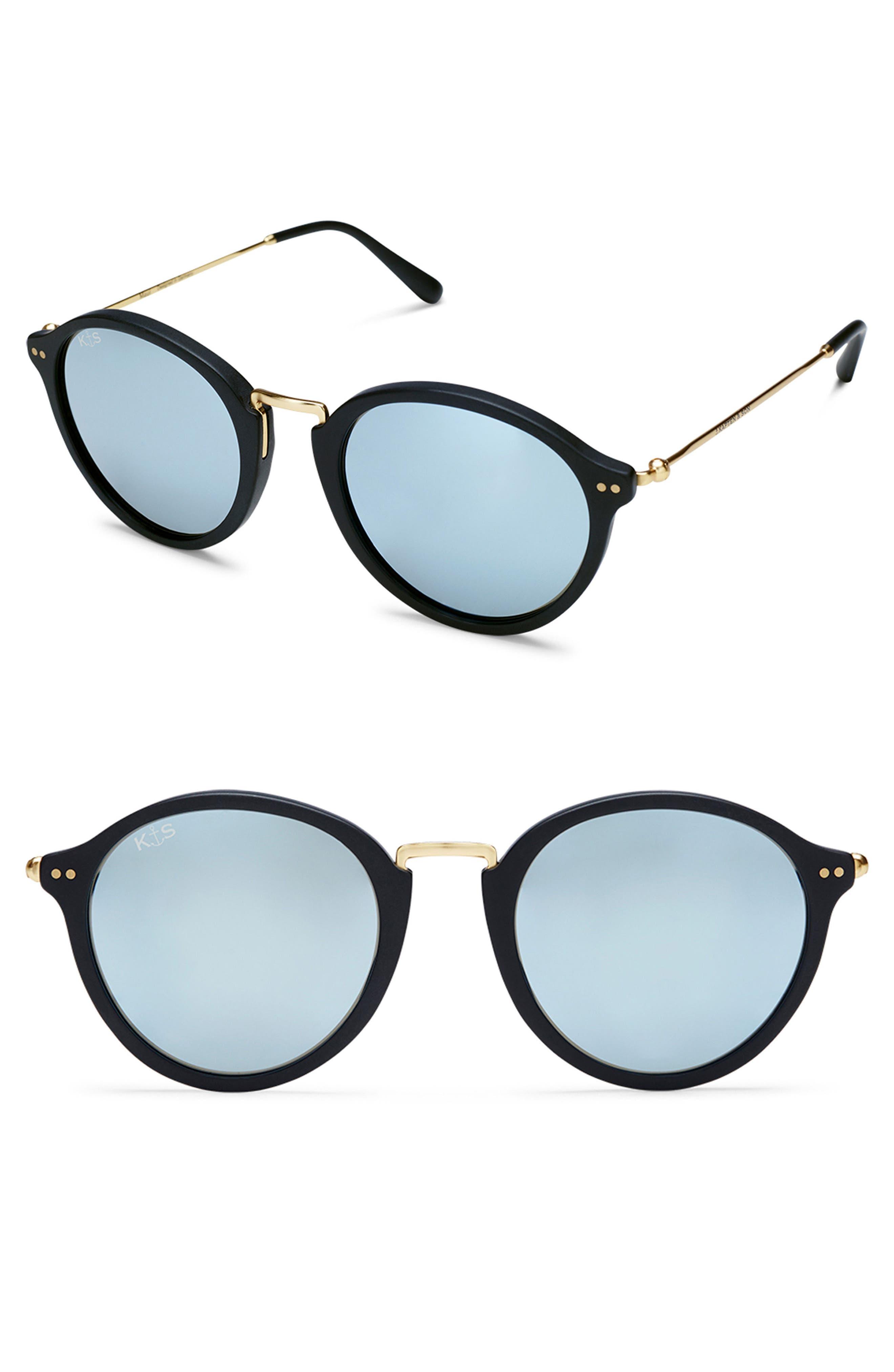 Maui 48mm Sunglasses,                         Main,                         color, Black/ Blue