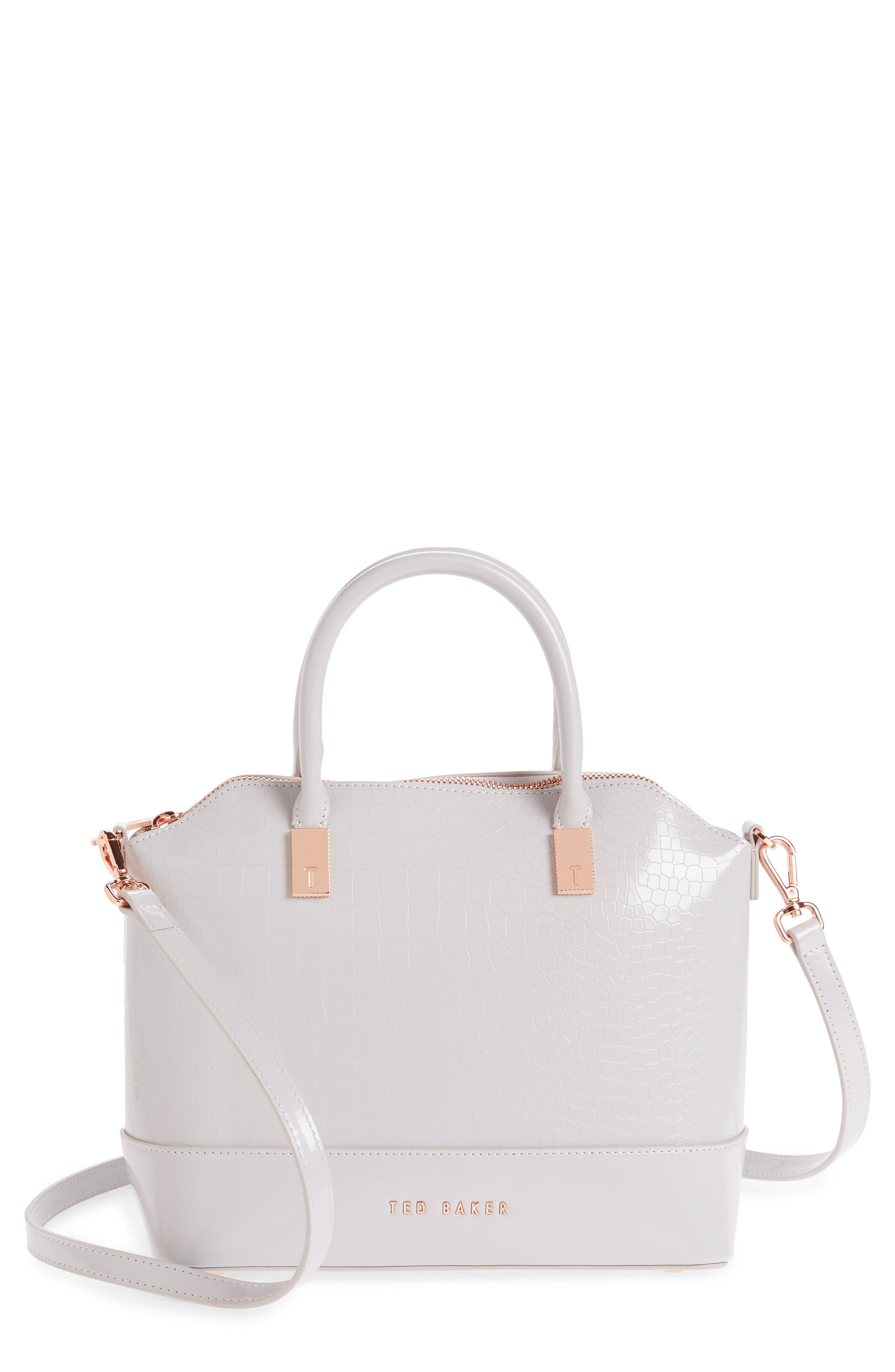 Ted Baker London Camilee Croc Embossed Leather Top Handle Tote