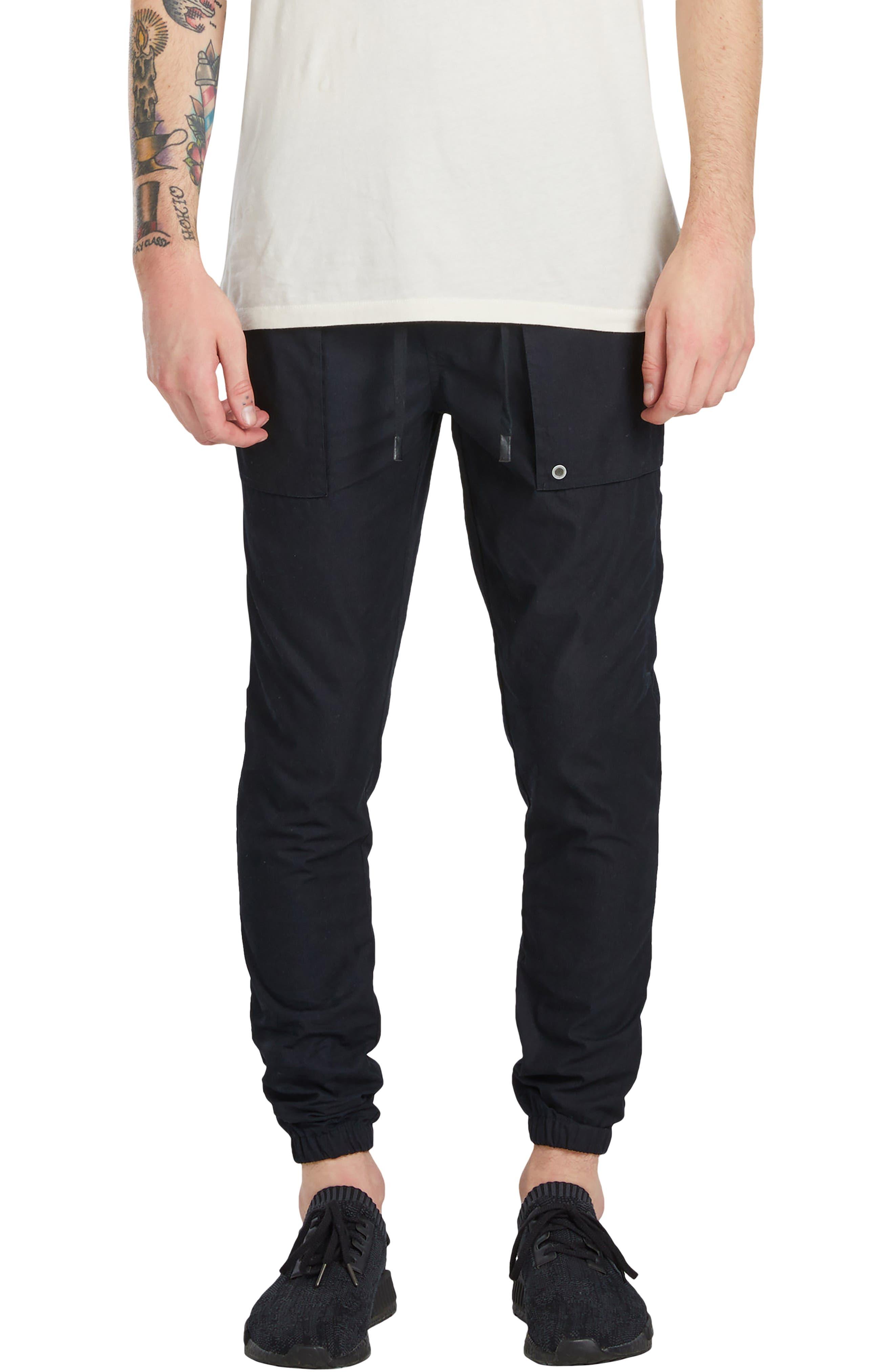 Tracer Cargo Jogger Pants,                         Main,                         color, Black