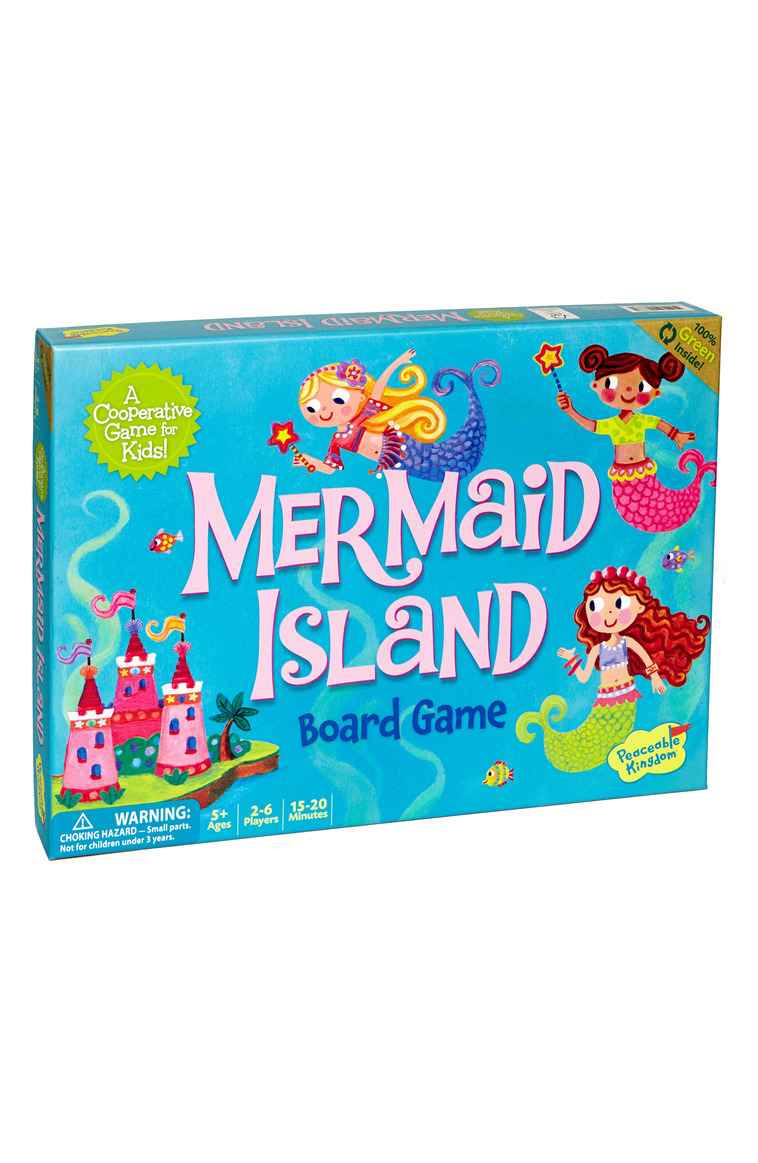 Mermaid Island Cooperative Board Game,                         Main,                         color, Blue