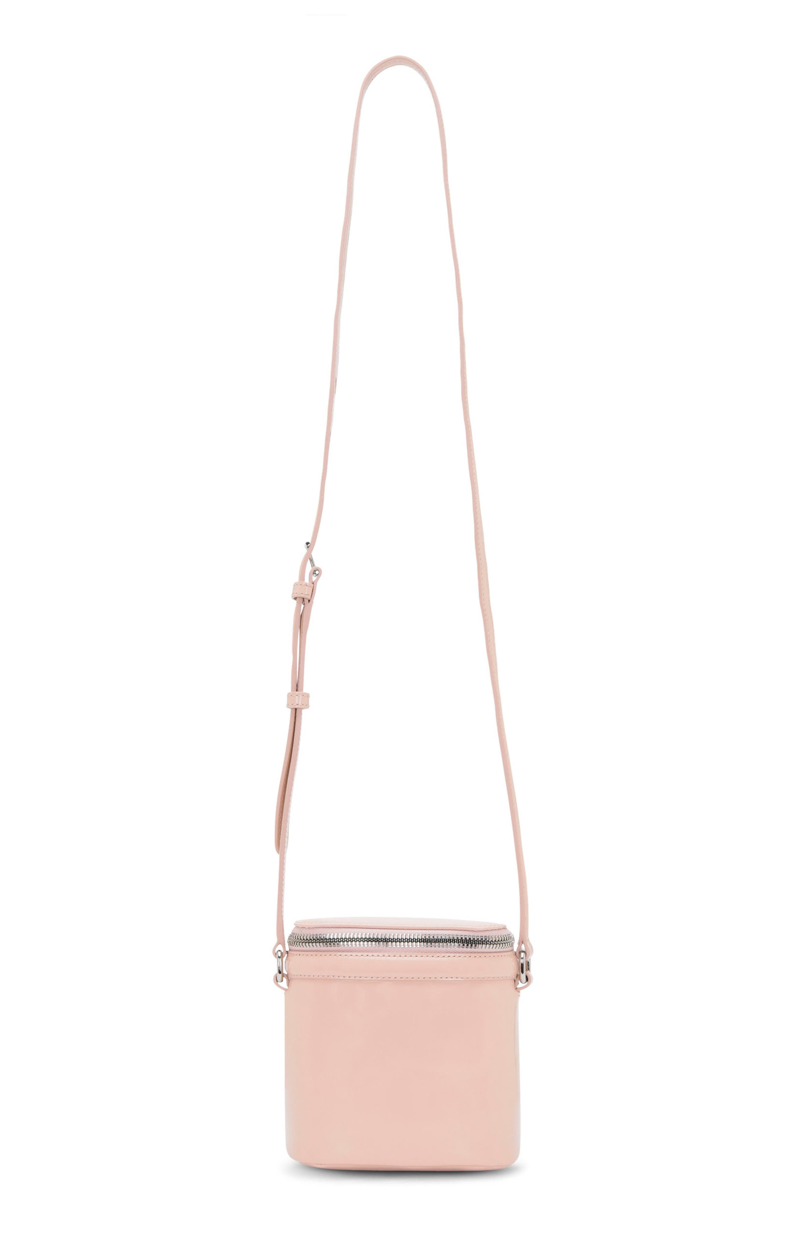 Stowaway Leather Crossbody Bag,                         Main,                         color, Dusty Pink