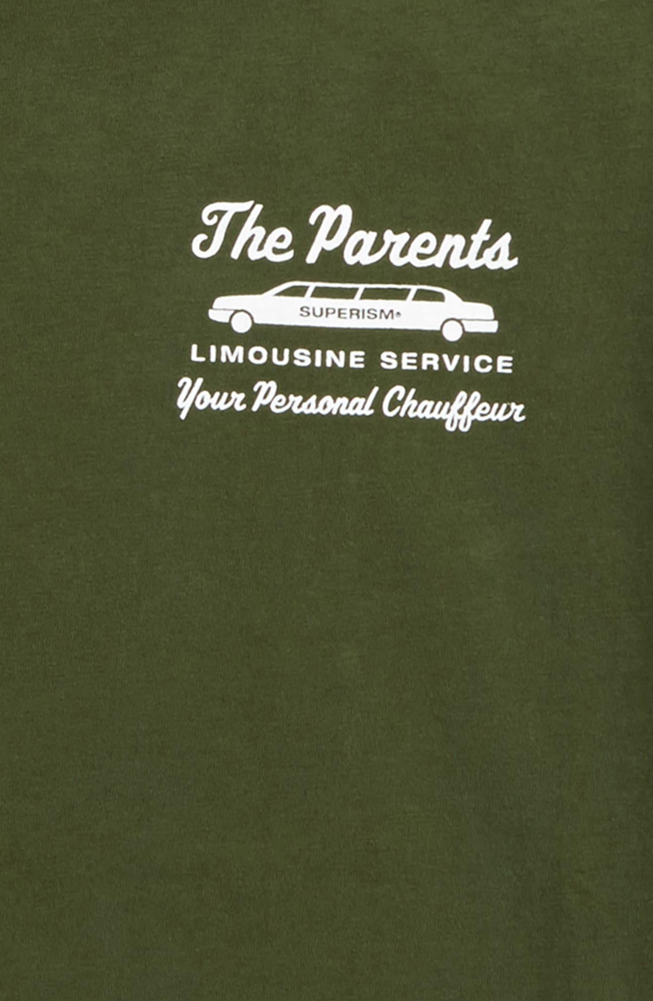 Alternate Image 3  - Superism The Parents Limousine Service T-Shirt (Big Boys)