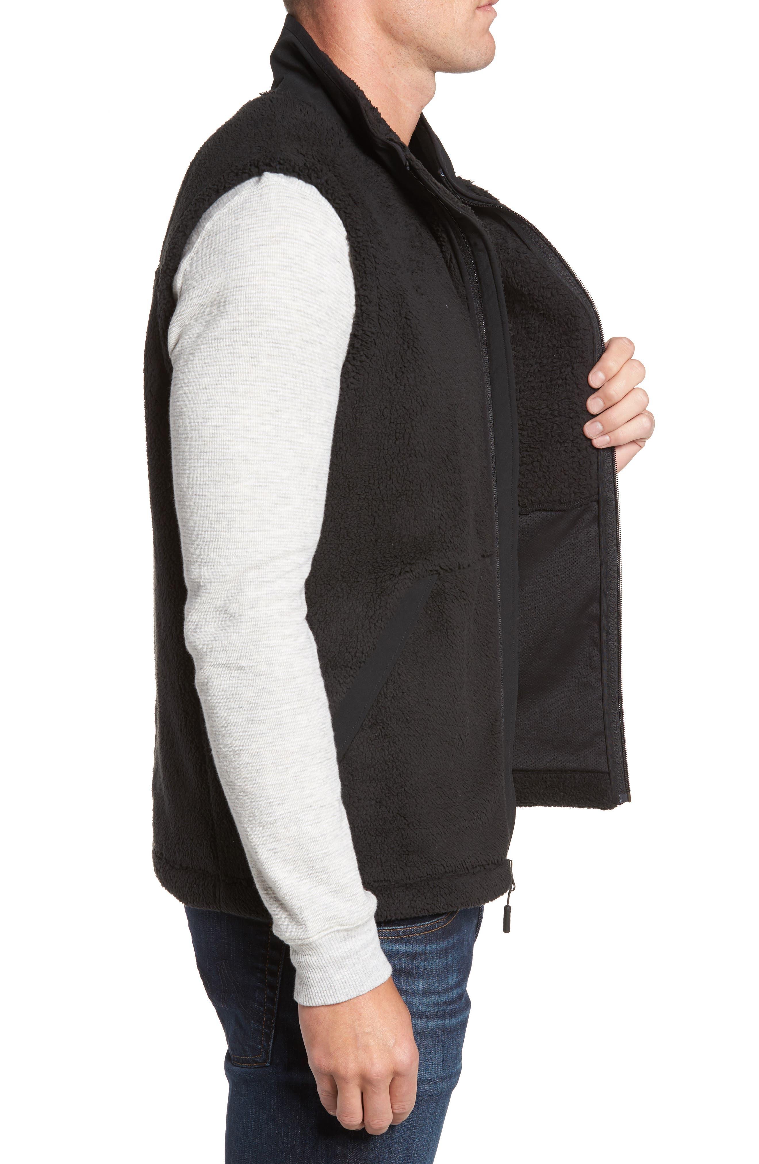 Campshire Fleece Vest,                             Alternate thumbnail 3, color,                             Black