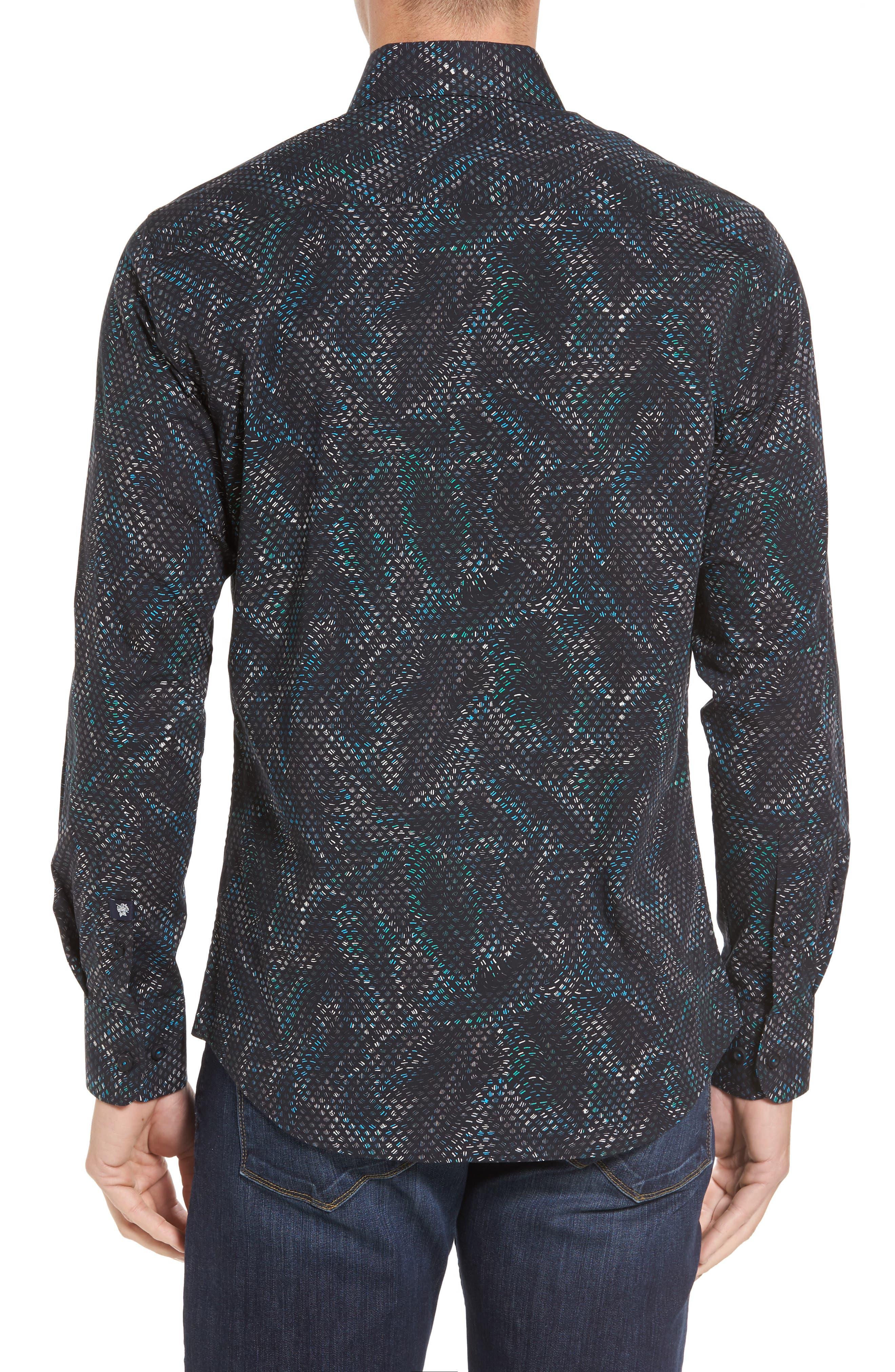 Alternate Image 2  - Stone Rose Slim Fit Scale FX Print Sport Shirt
