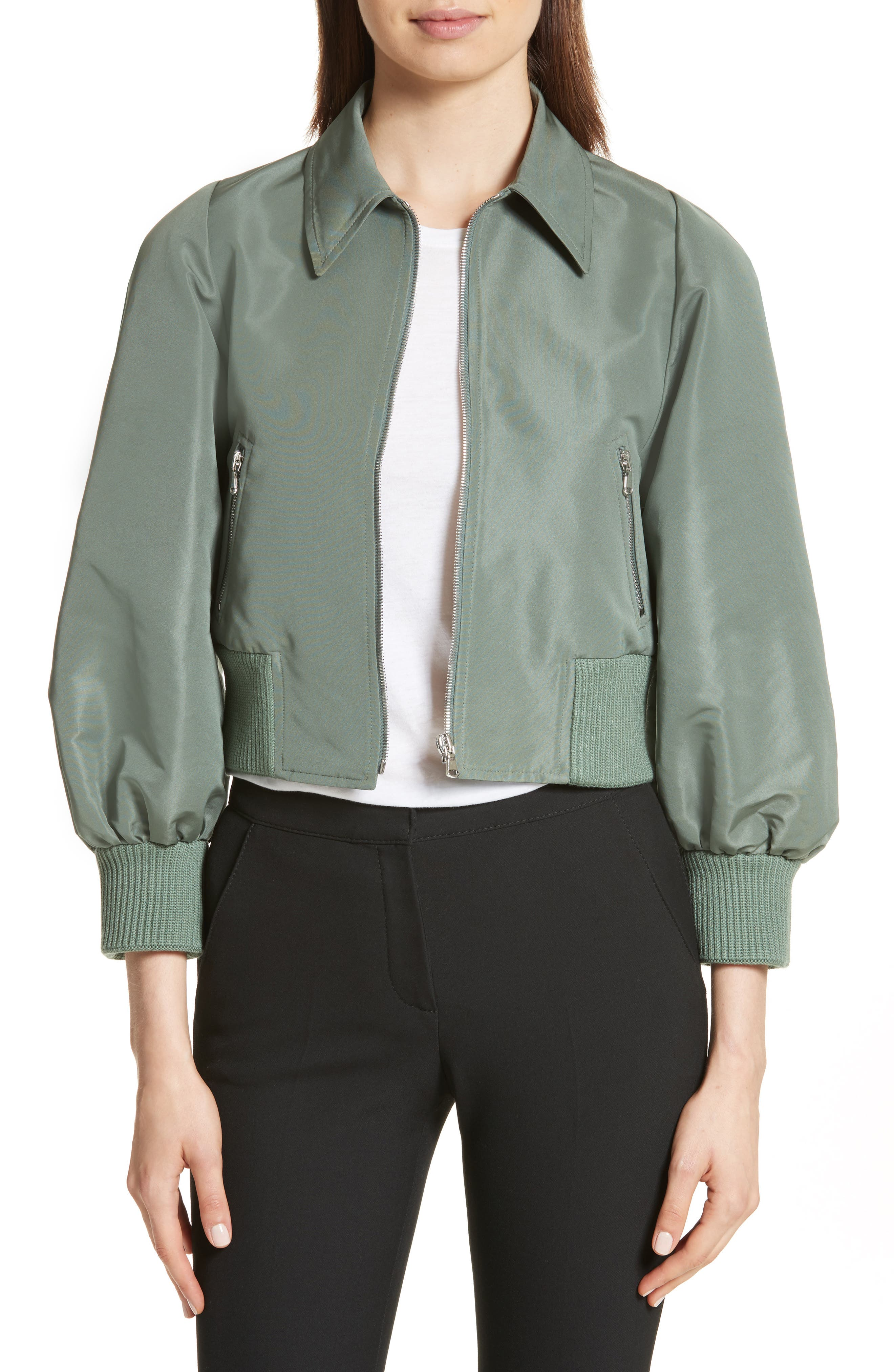 Alternate Image 1 Selected - RED Valentino Faille Crop Jacket