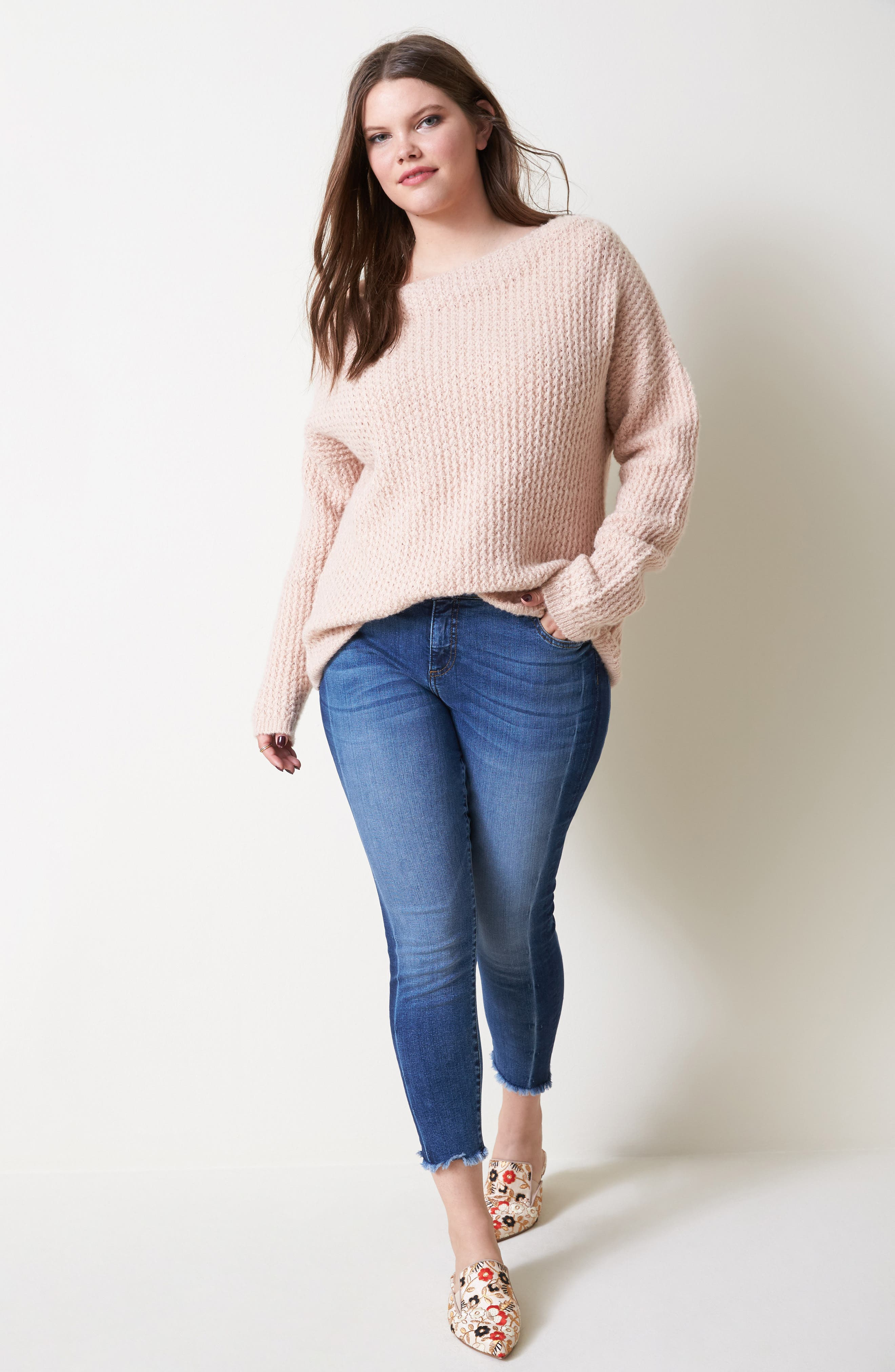 Off the Shoulder Sweater,                             Alternate thumbnail 2, color,                             Blossom