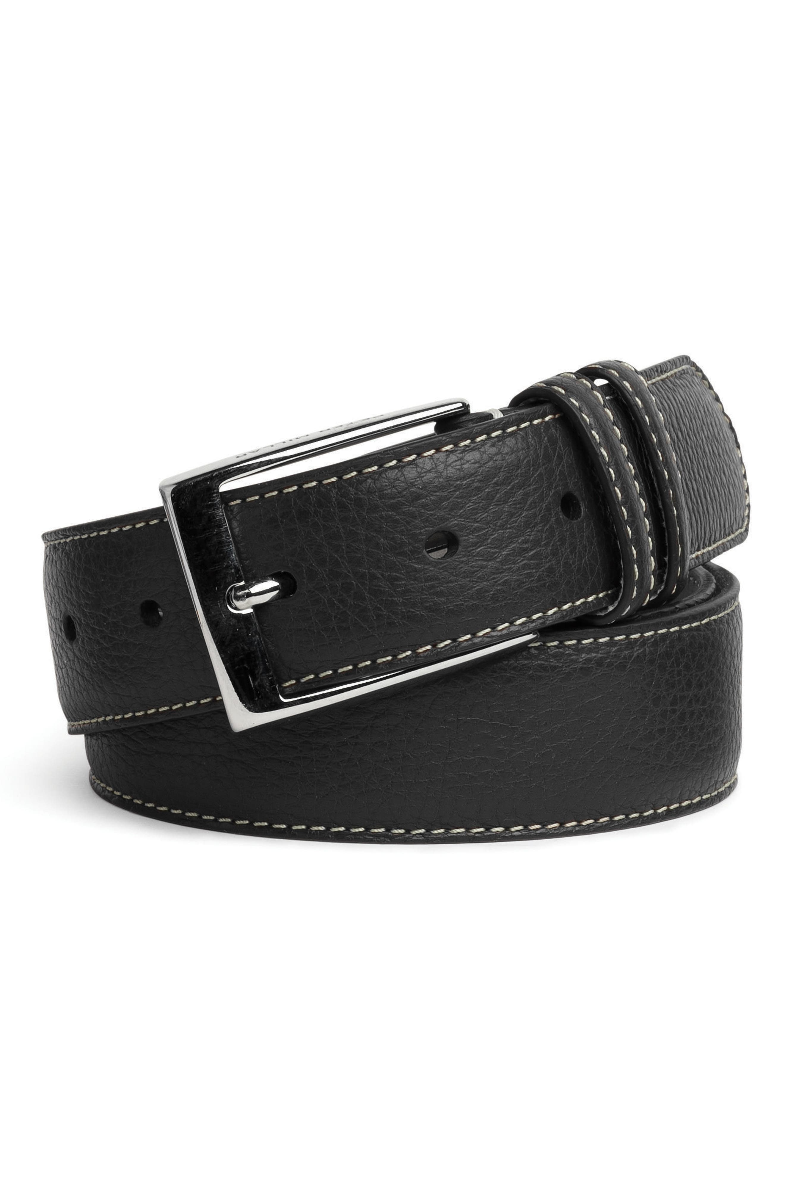 Peter Millar Pebbled Leather Belt