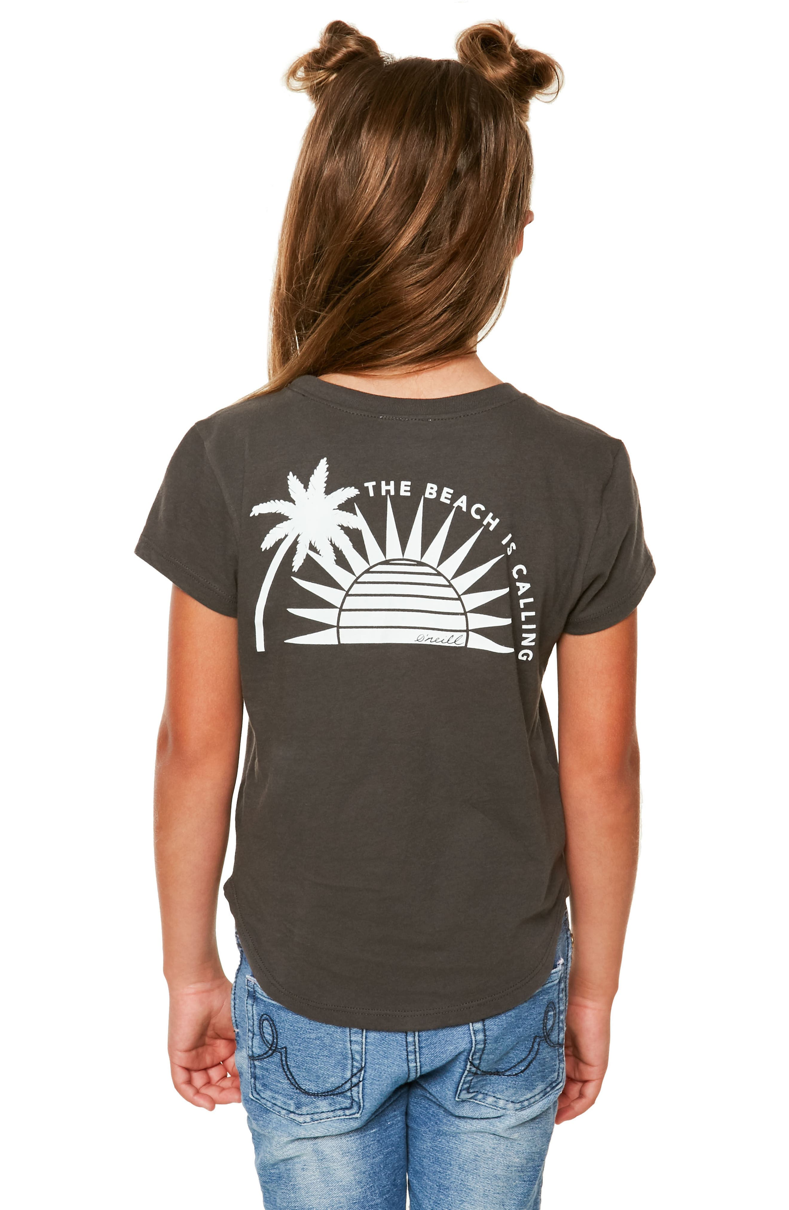 Sunup Graphic Print Tee,                             Alternate thumbnail 2, color,                             Washed Black - Fad