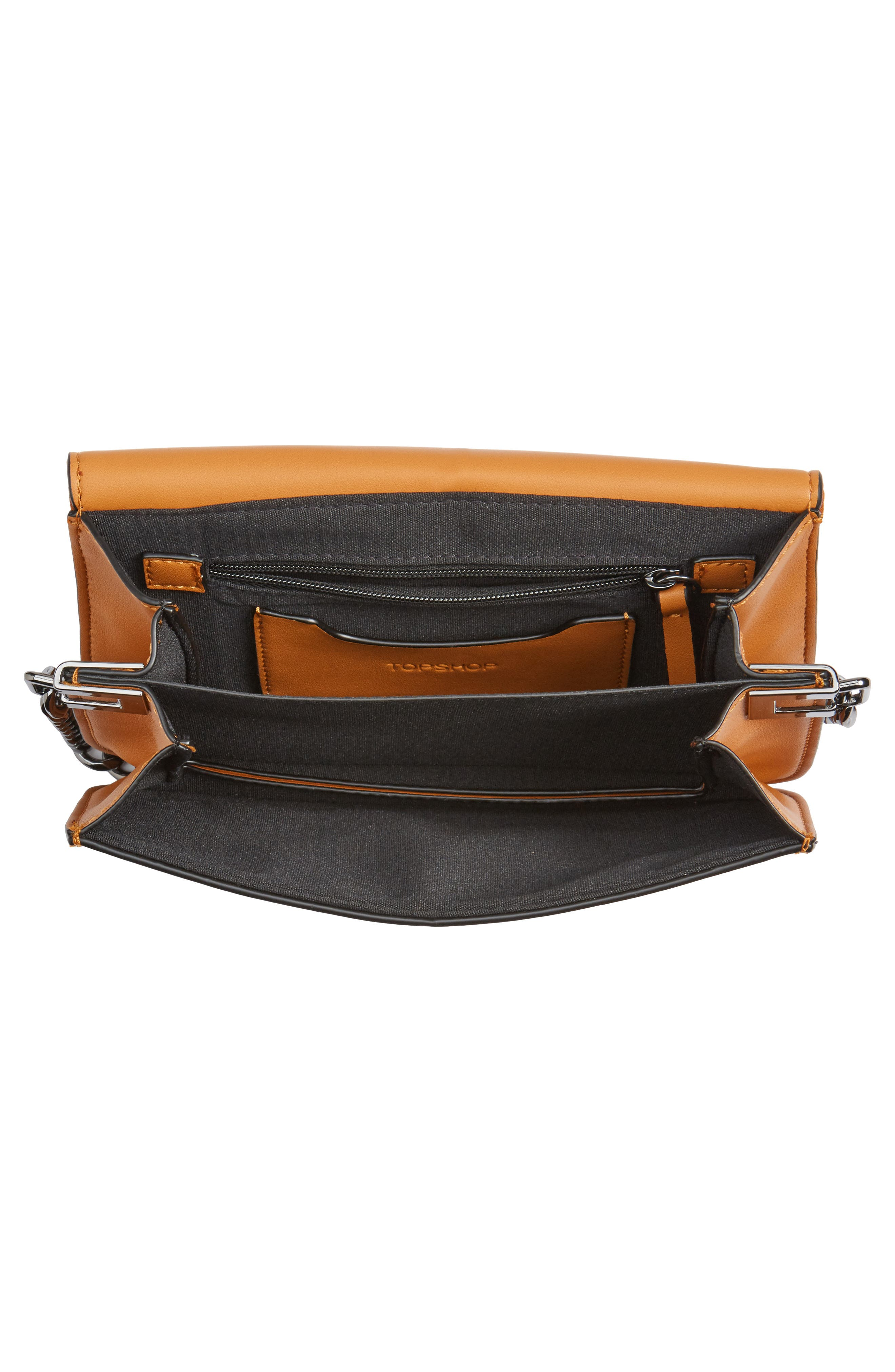 Alternate Image 6  - Topshop Remy Trophy Faux Leather Crossbody Bag